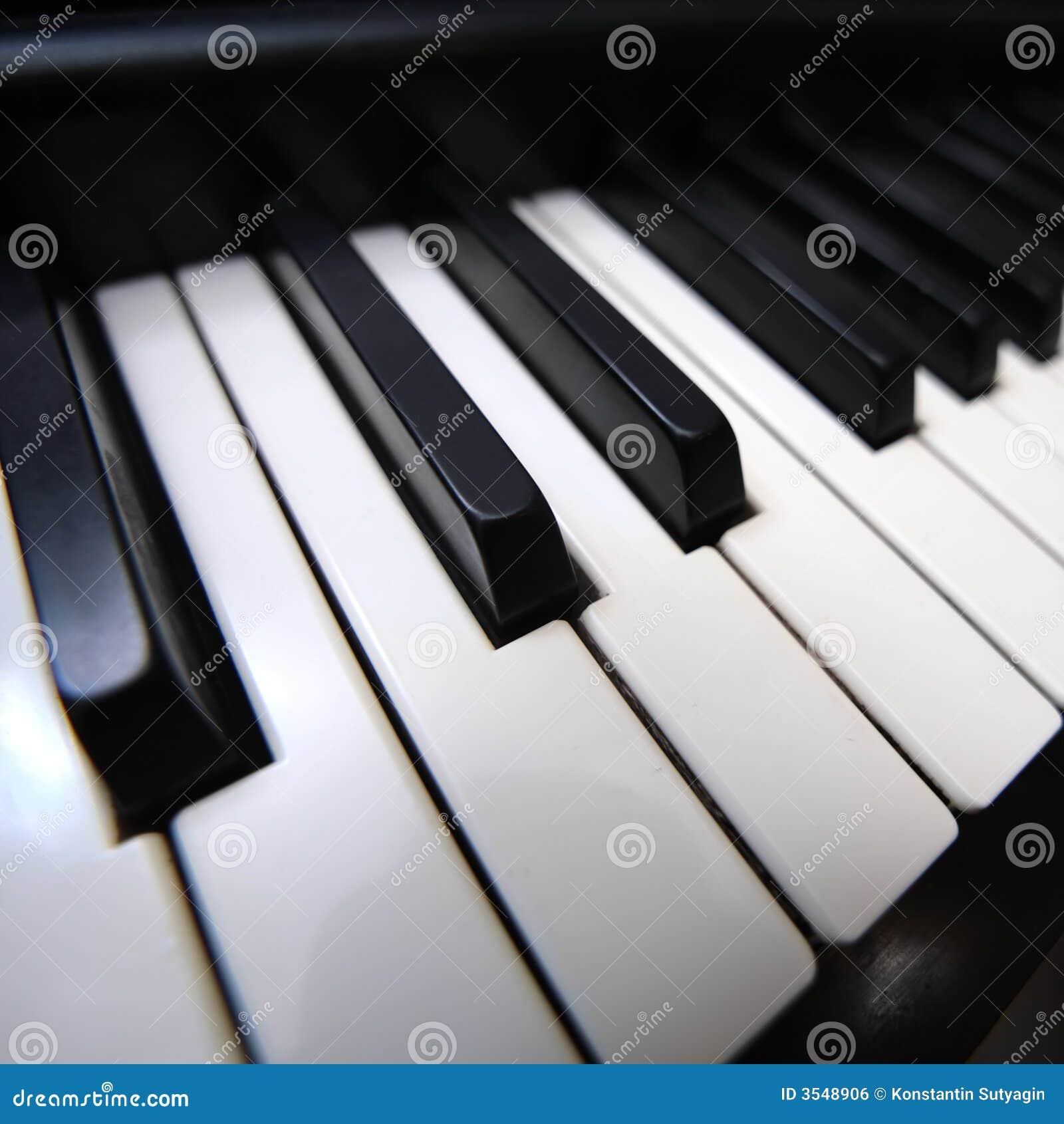 Zbliżenie klawiatury pianino