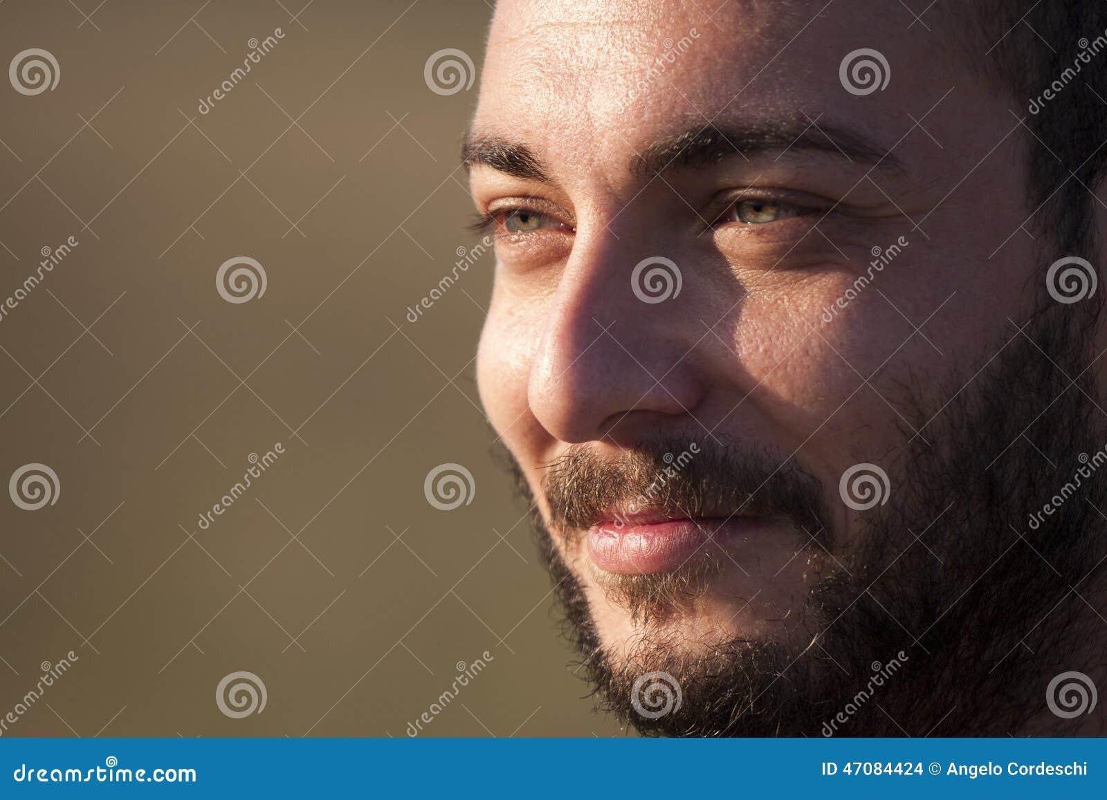 Zbliżenie twarz brody mężczyzna ja target295_0_
