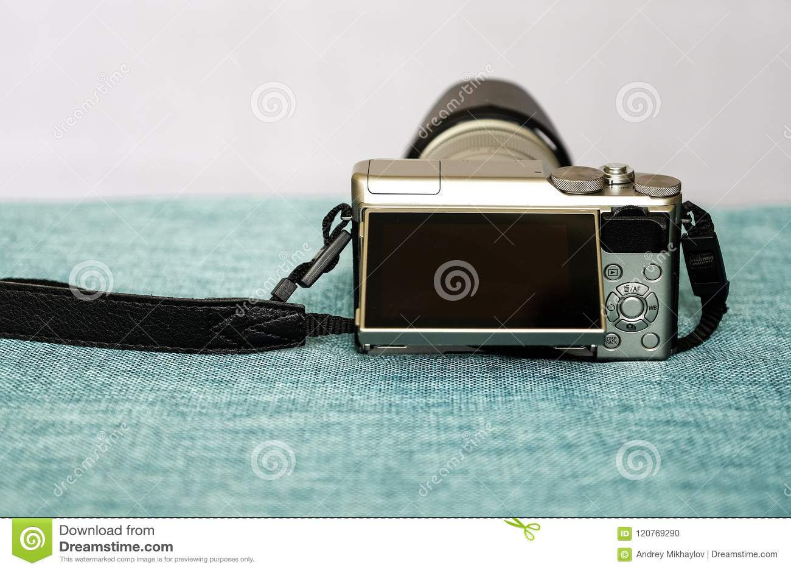 Zbliżenie widok cyfrowa kamera