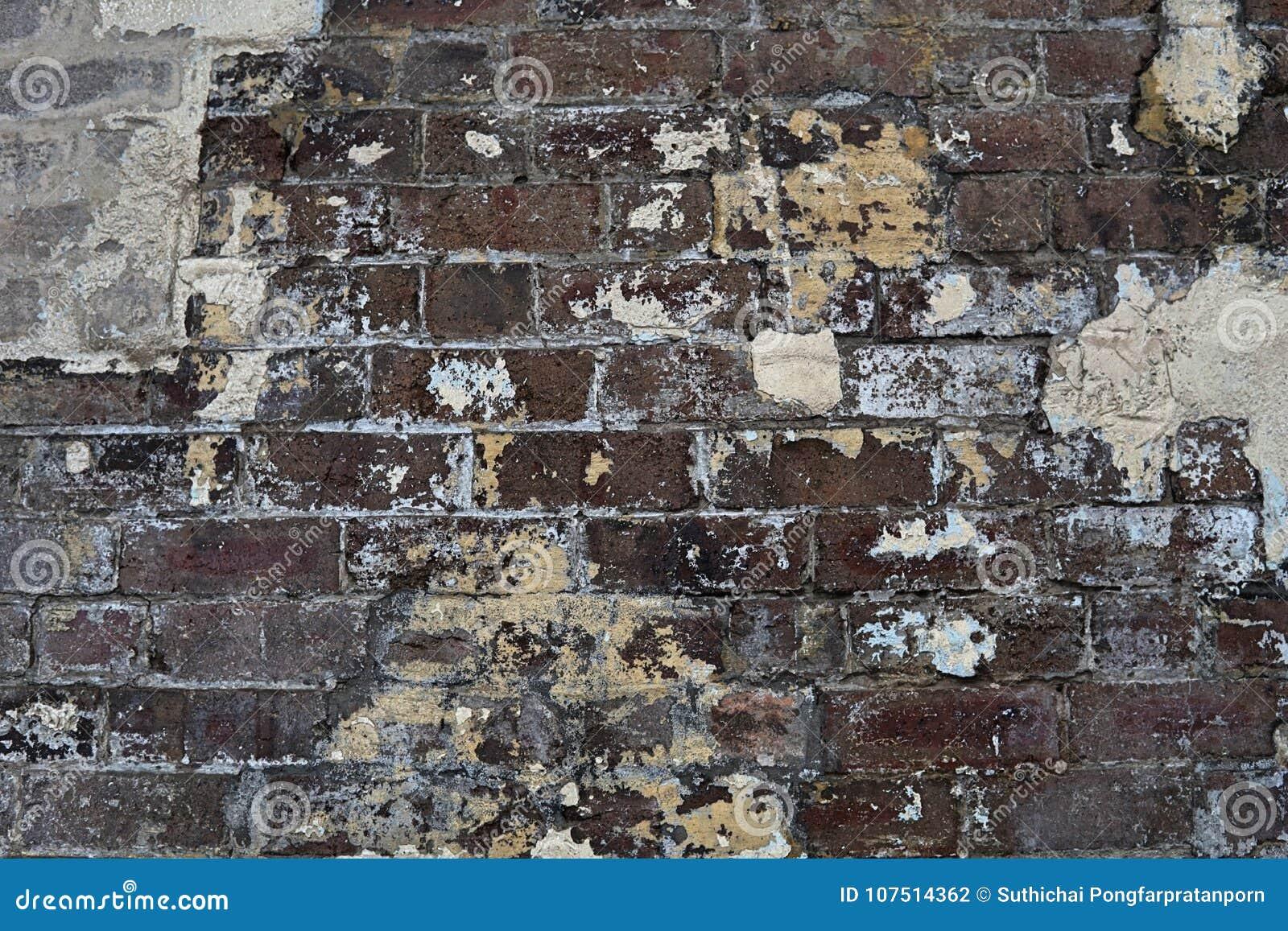 Zbożowy wizerunek ceglany kamiennej ściany tło w szczegółu i tekstury patte