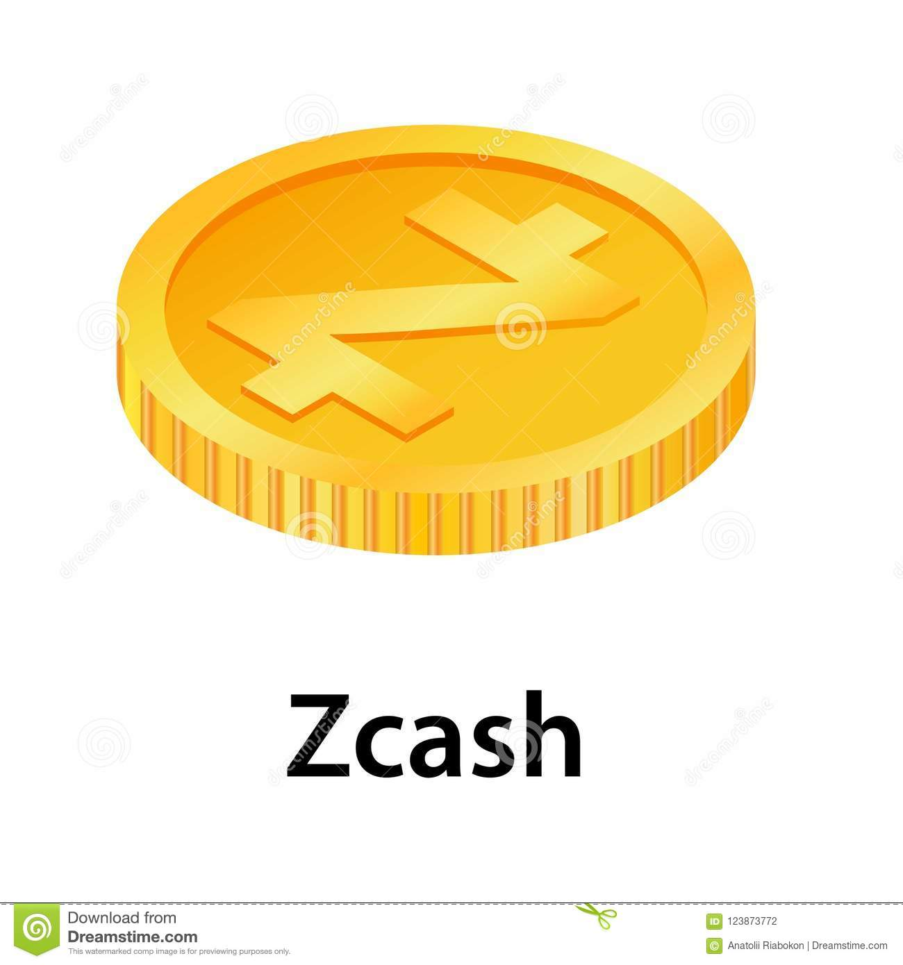 Download Zcash Icon Isometric Style Stock Illustration