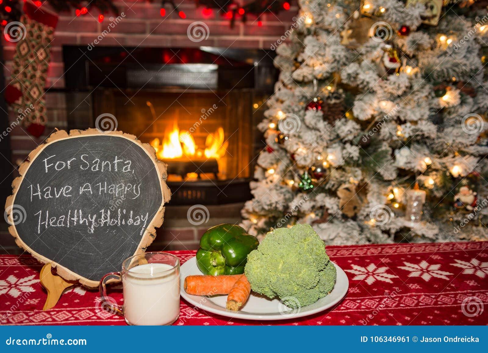 Zdrowa przekąska dla Santa