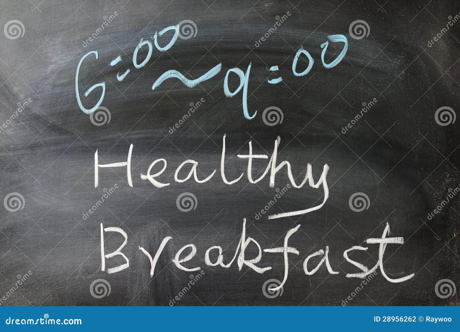 Zdrowi śniadań słowa