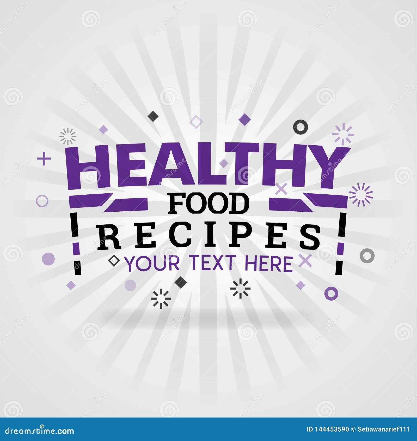 Zdrowi kulinarni przepisy dla książka kucharska artykułów i kulinarnych stron internetowych