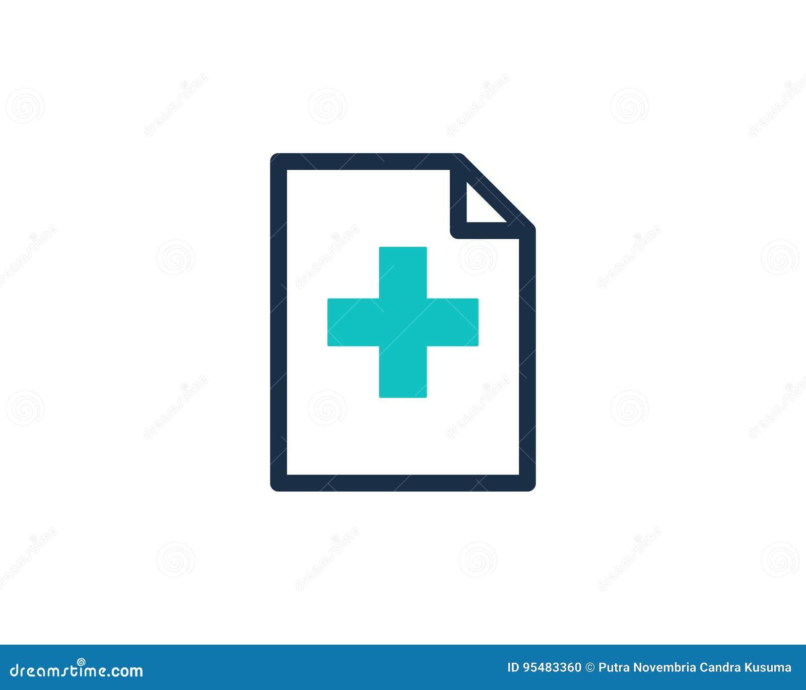 Zdrowie dokumentu ikony loga projekta Medyczny element