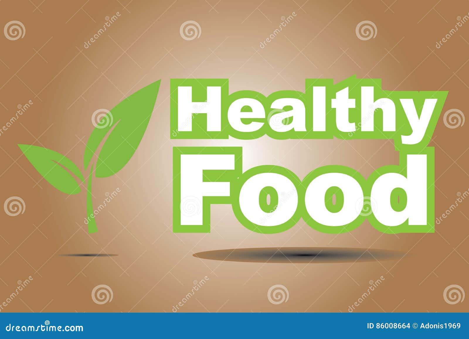 Zdrowy jedzenie znak