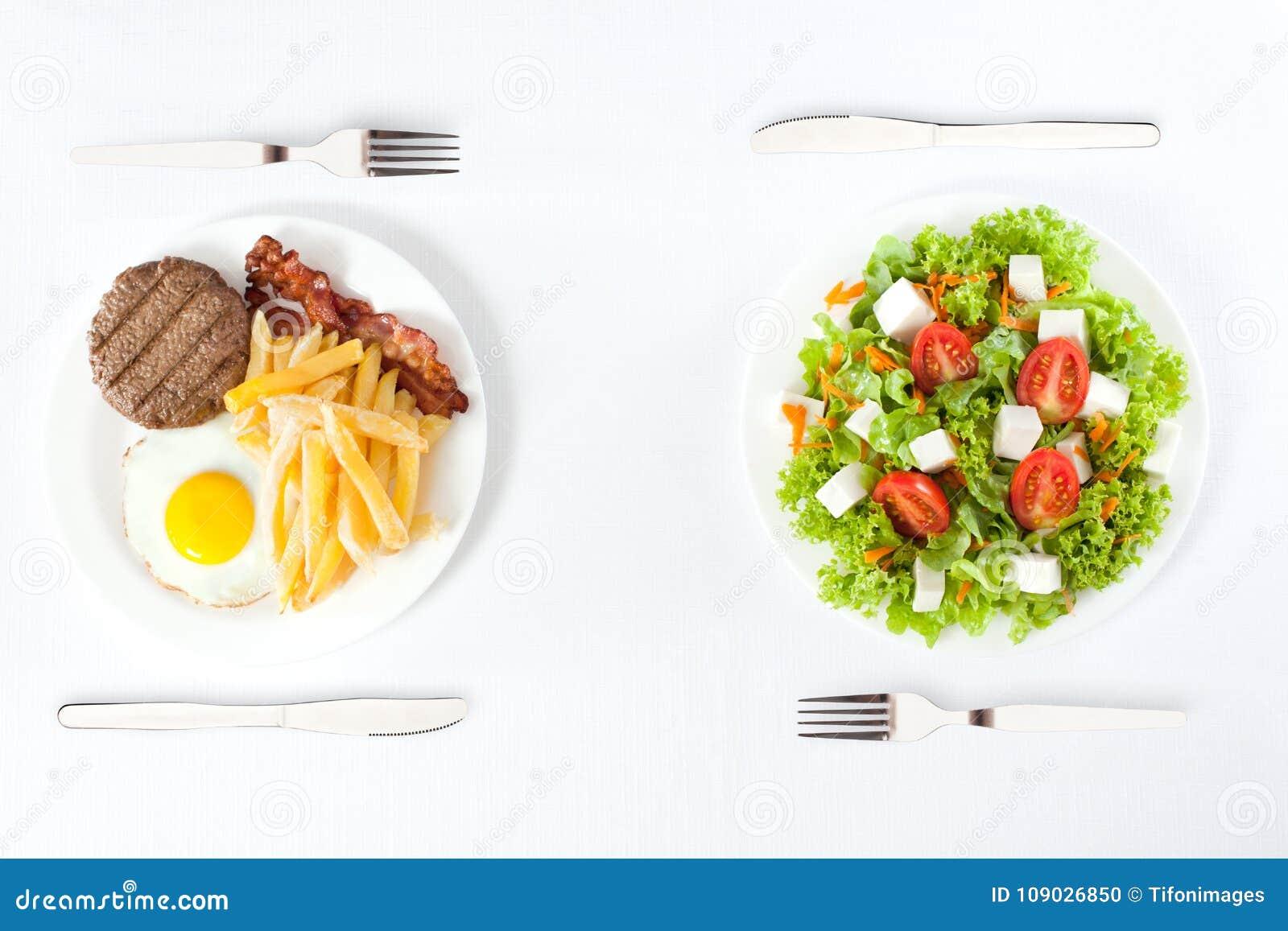 Zdrowy versus szybkie żarcie