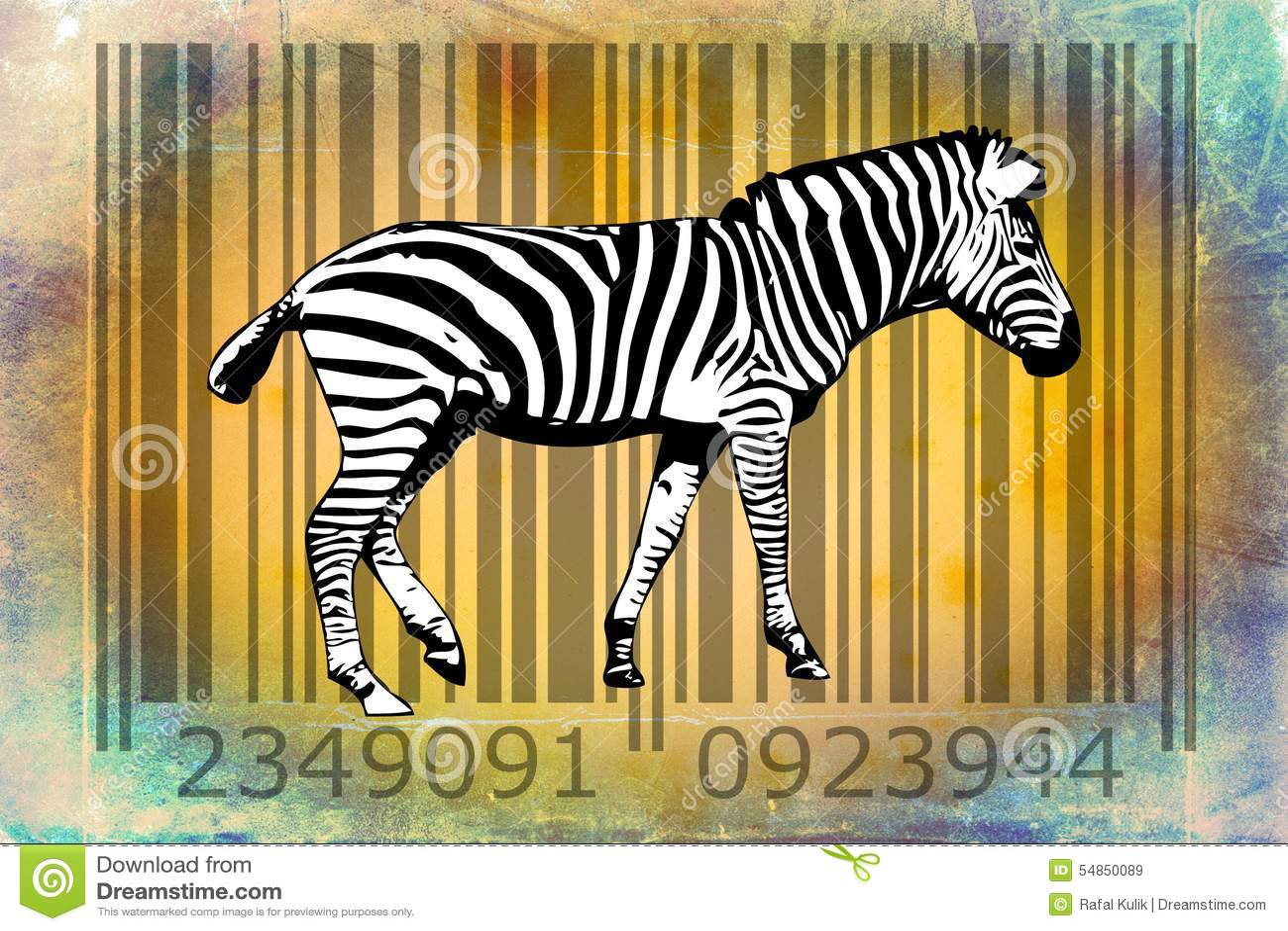 Zebra Barcode Animal Design Art Idea Stock Illustration