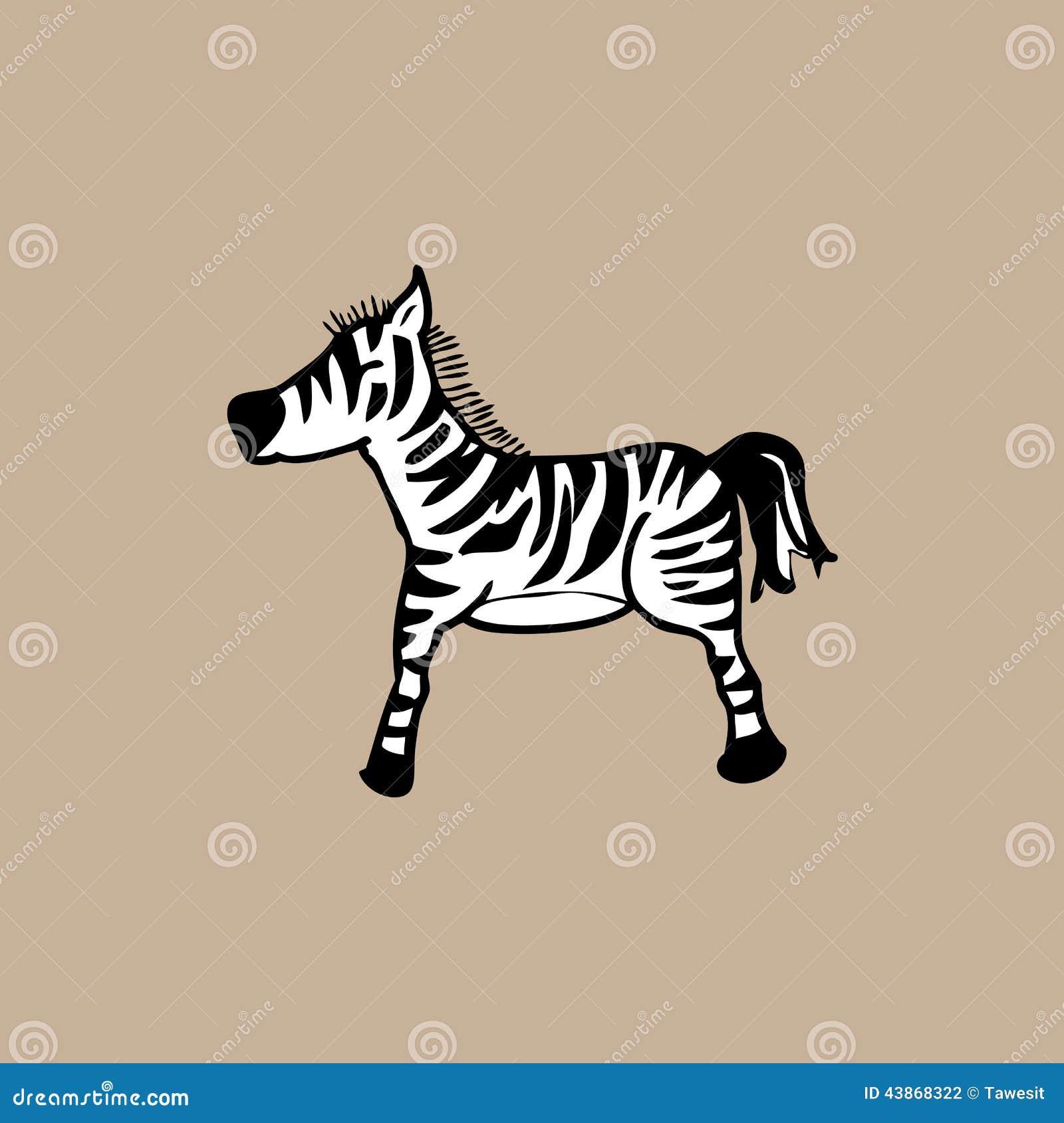 Zebra Character Design : Zebra stock illustration image