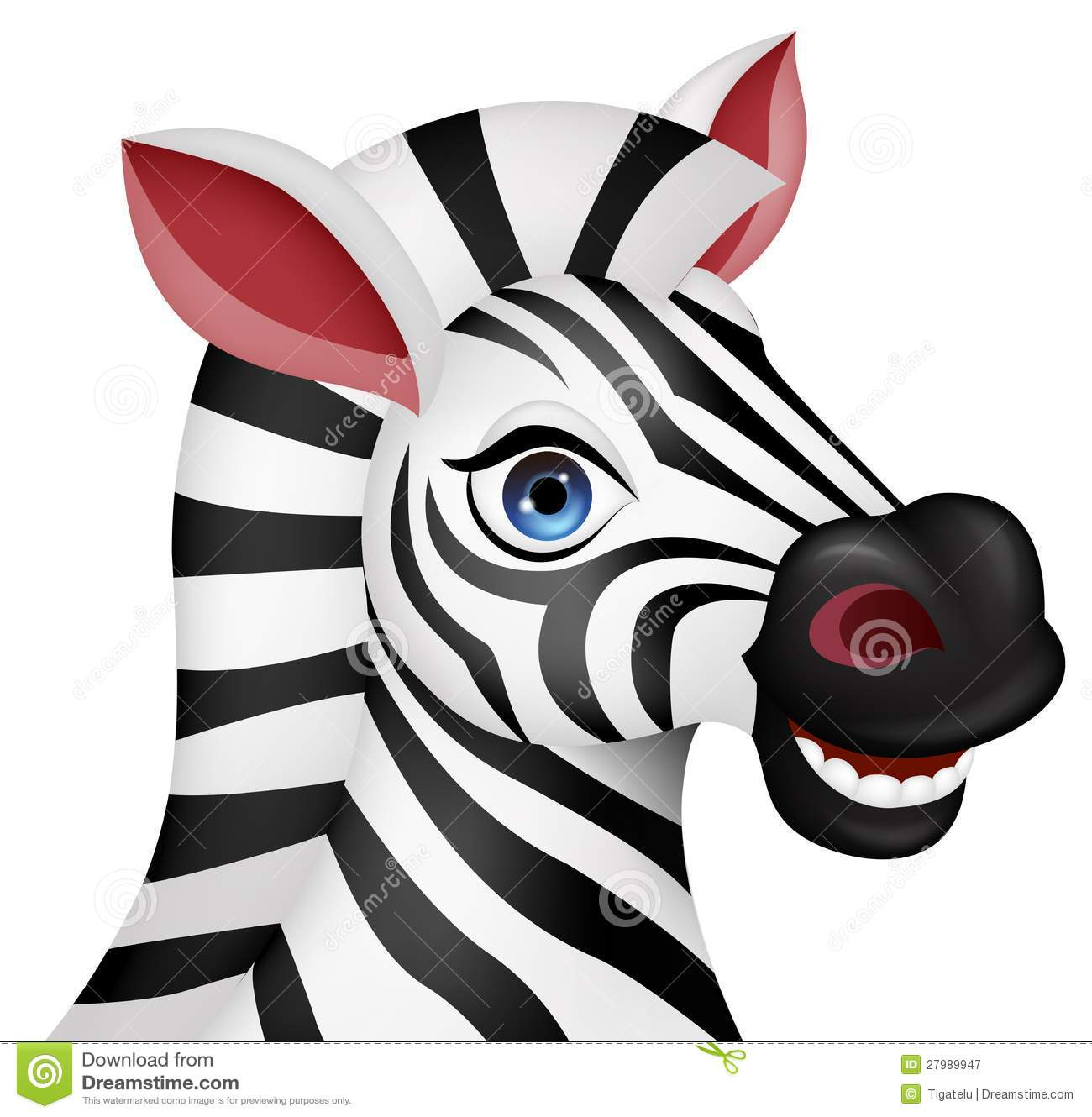 Zebra cartoon face ankaperla
