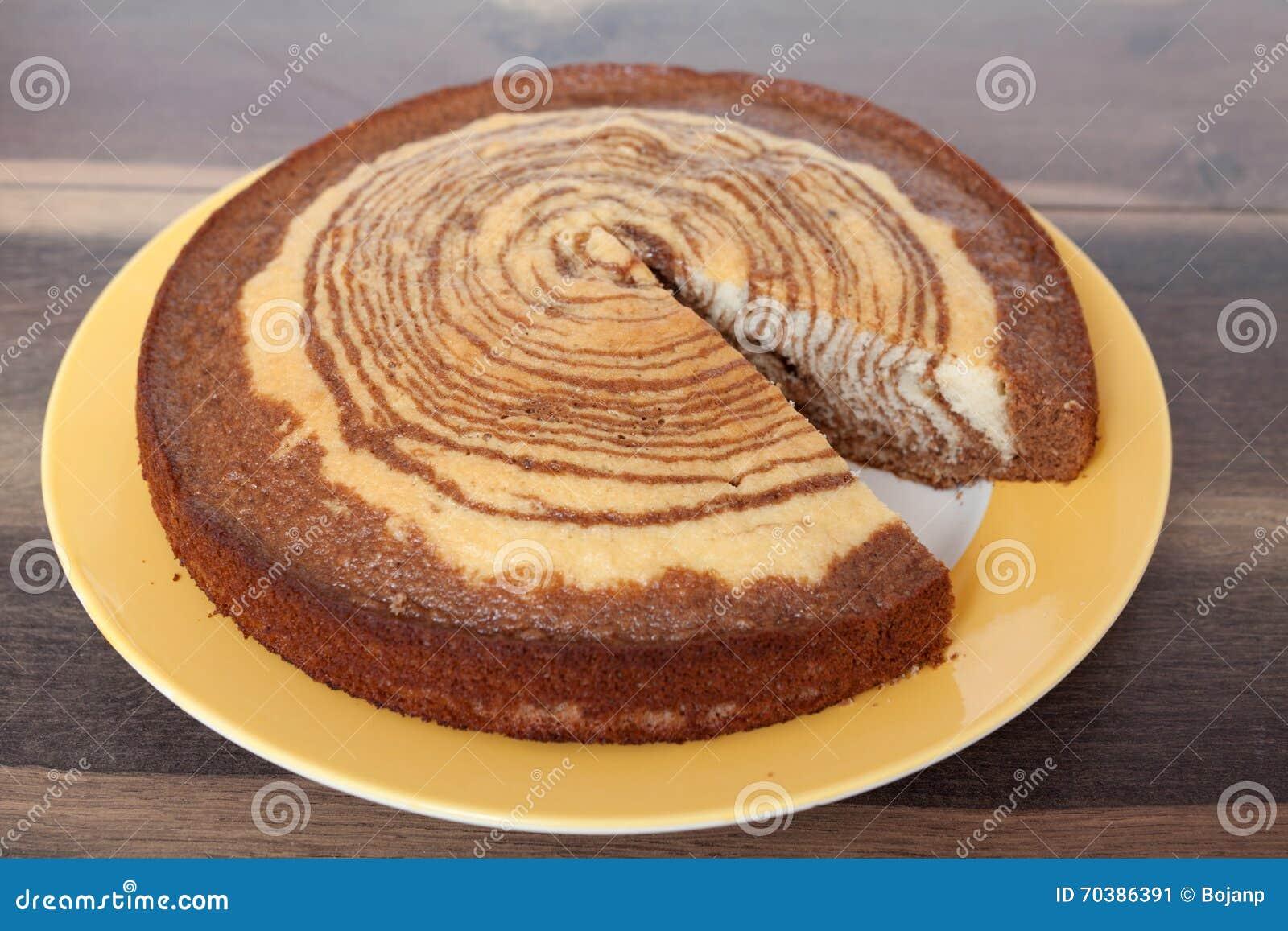 Zebra Kuchen Selbst Gemachte Rezepte Stockbild Bild Von Milch