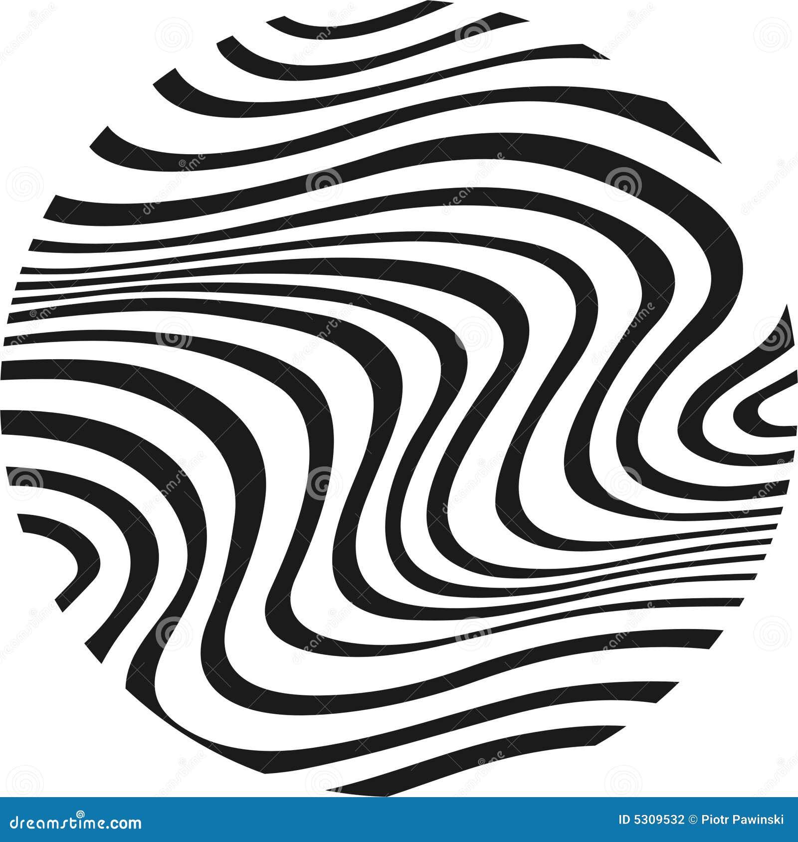 Download Zebra nel cerchio illustrazione vettoriale. Illustrazione di background - 5309532