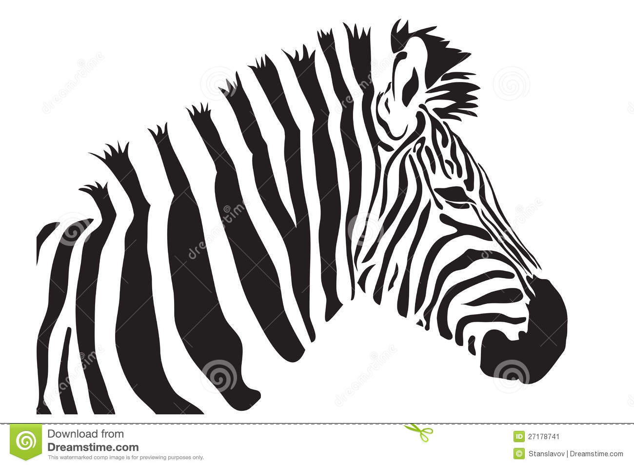 Zebra Head Outline Zebra outline silhouette