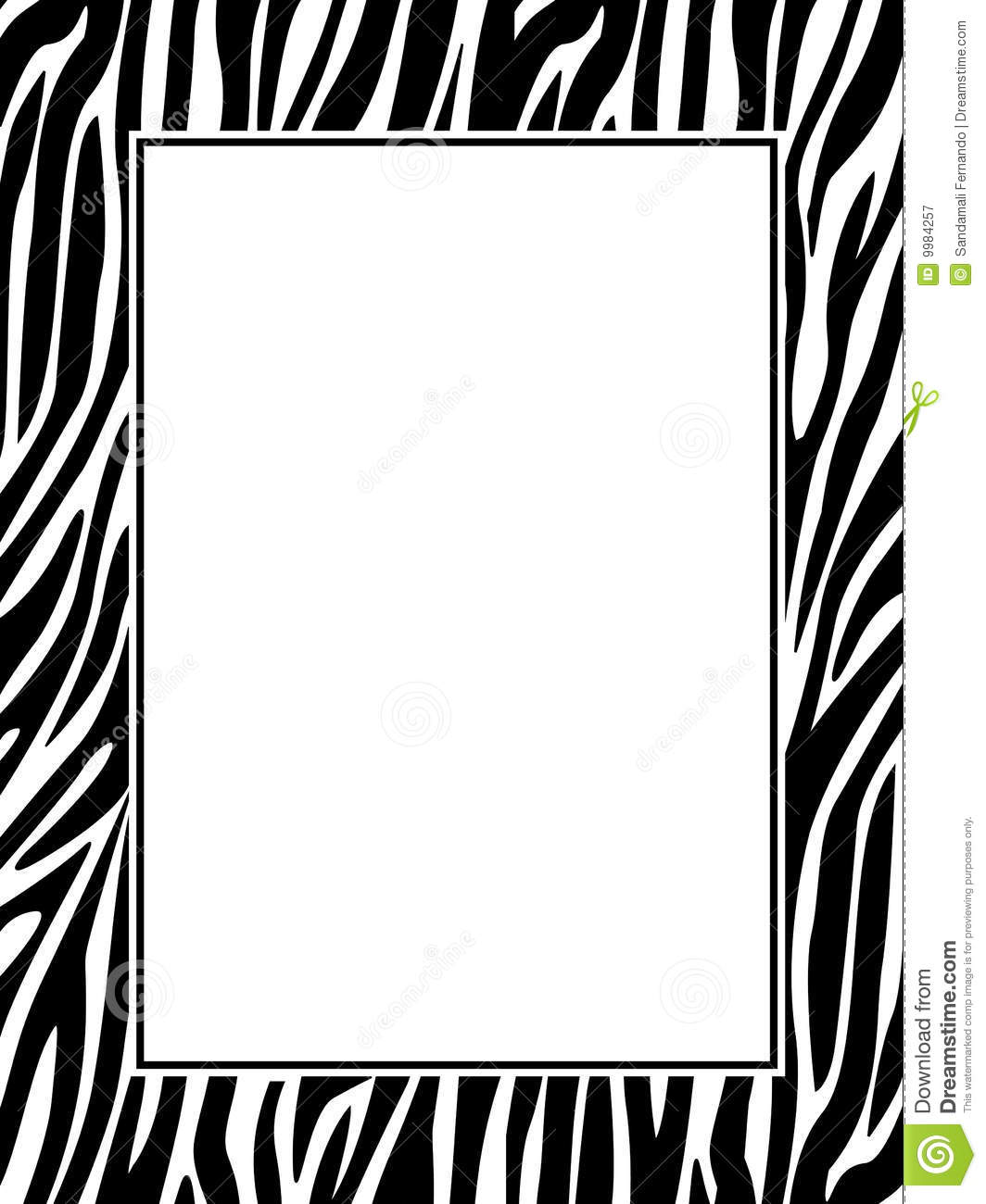 Zebra Print Border Royalty Free Stock Photography - Image: 9984257