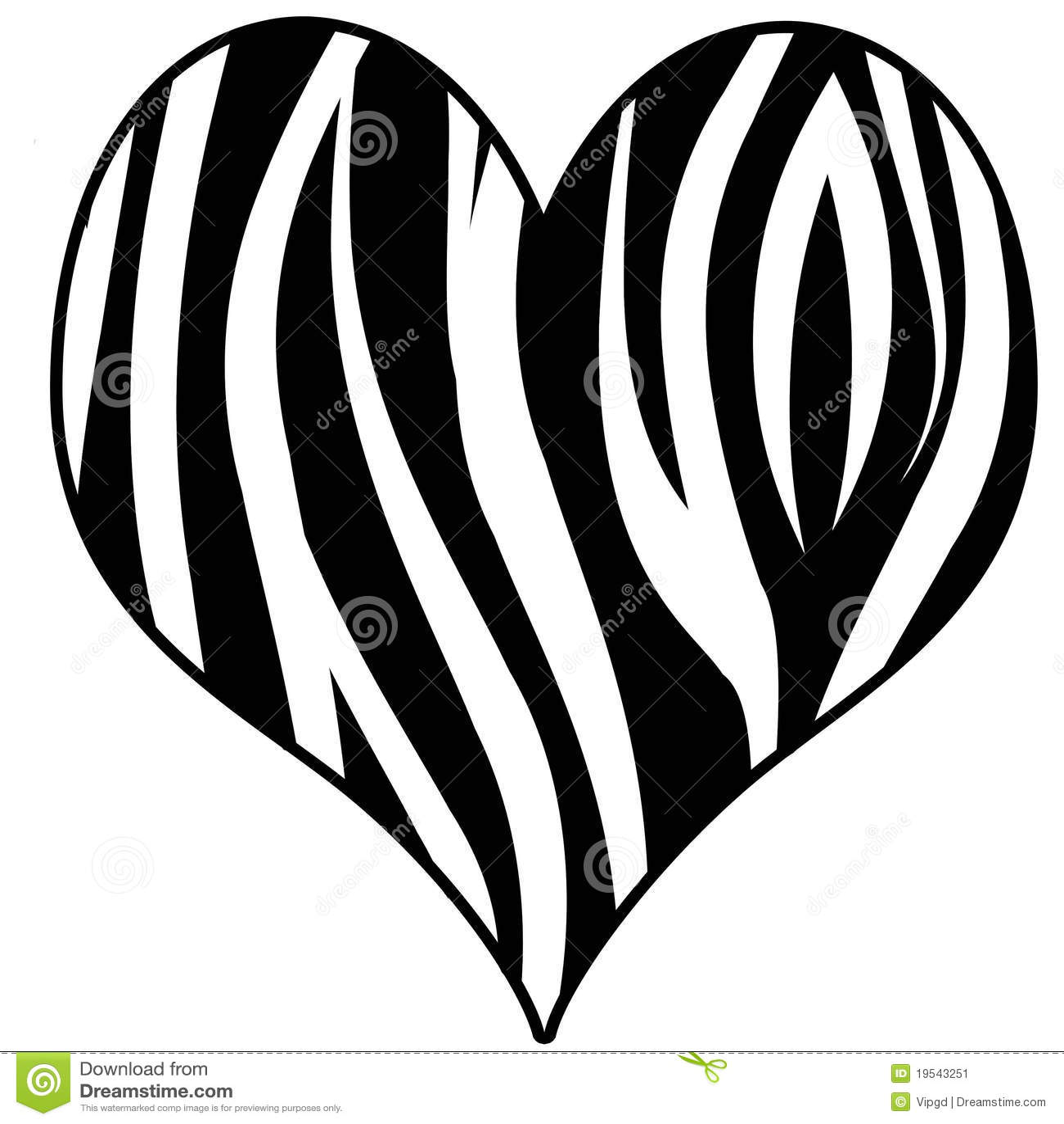 zebra print heart stock image image 19543251