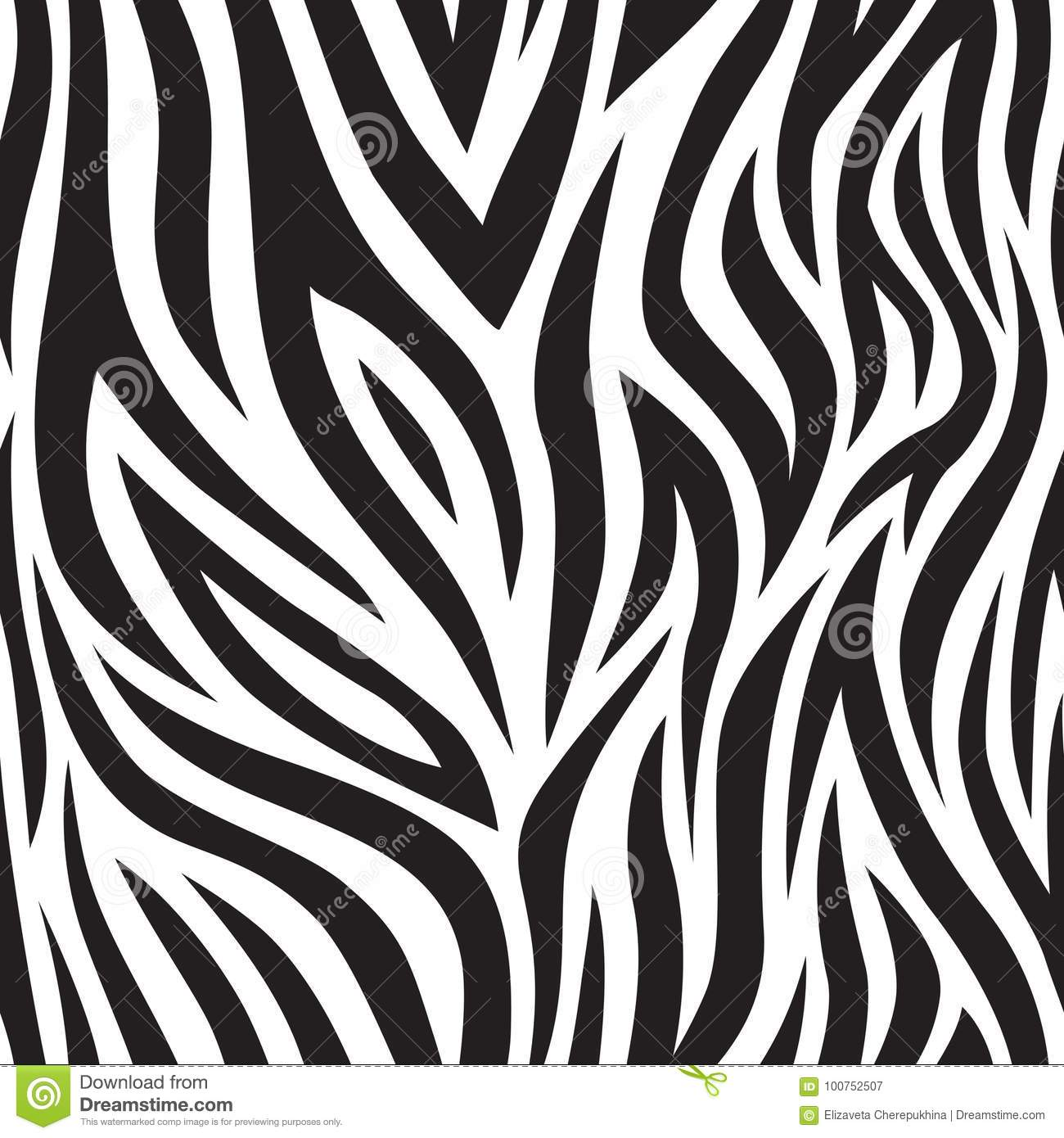 Black and white tiger stripes popular texture