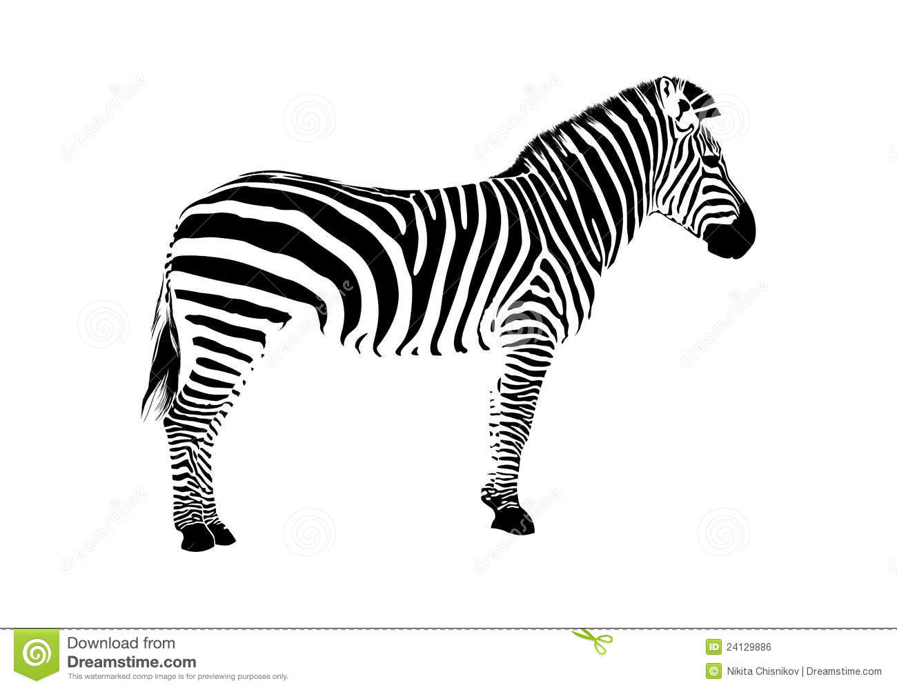 Zebra Head Outline Zebra silhouette