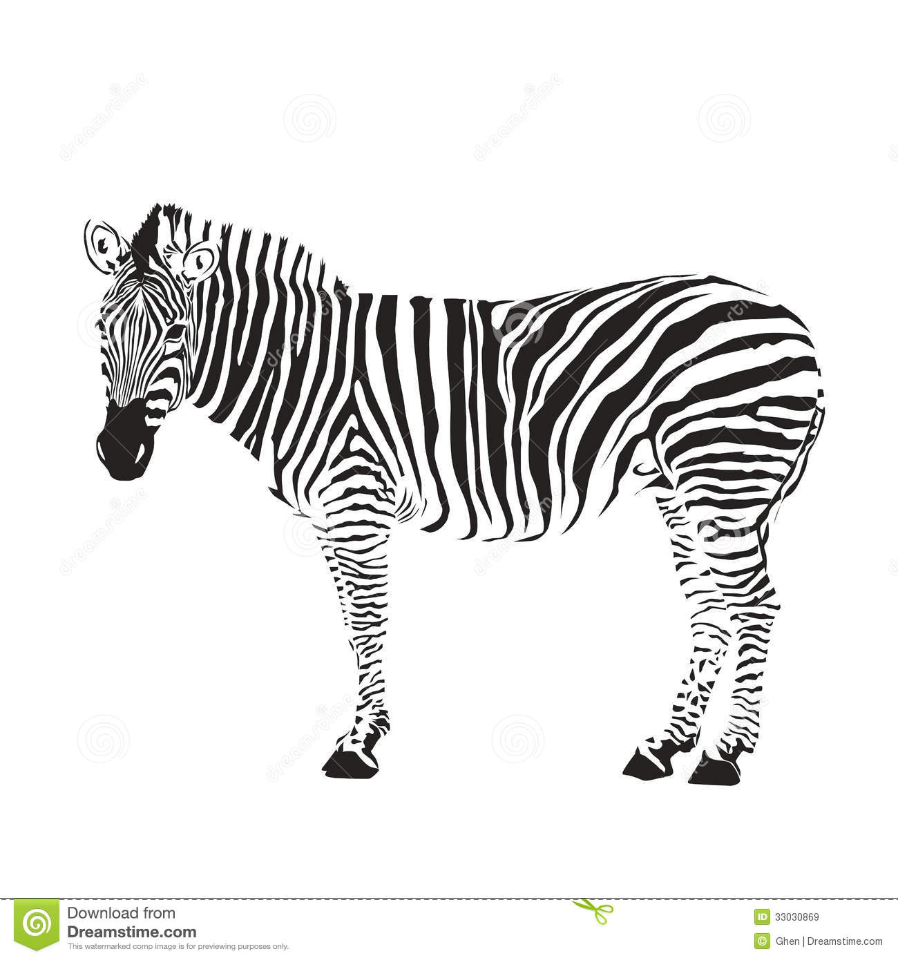 Zebra Silhouette Royalty Free Stock Images Image 33030869