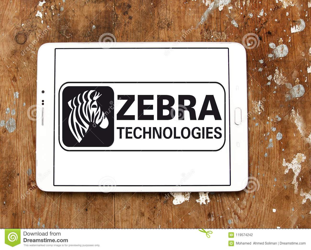 Zebra Technologies Company Logo Editorial Photography - Image of