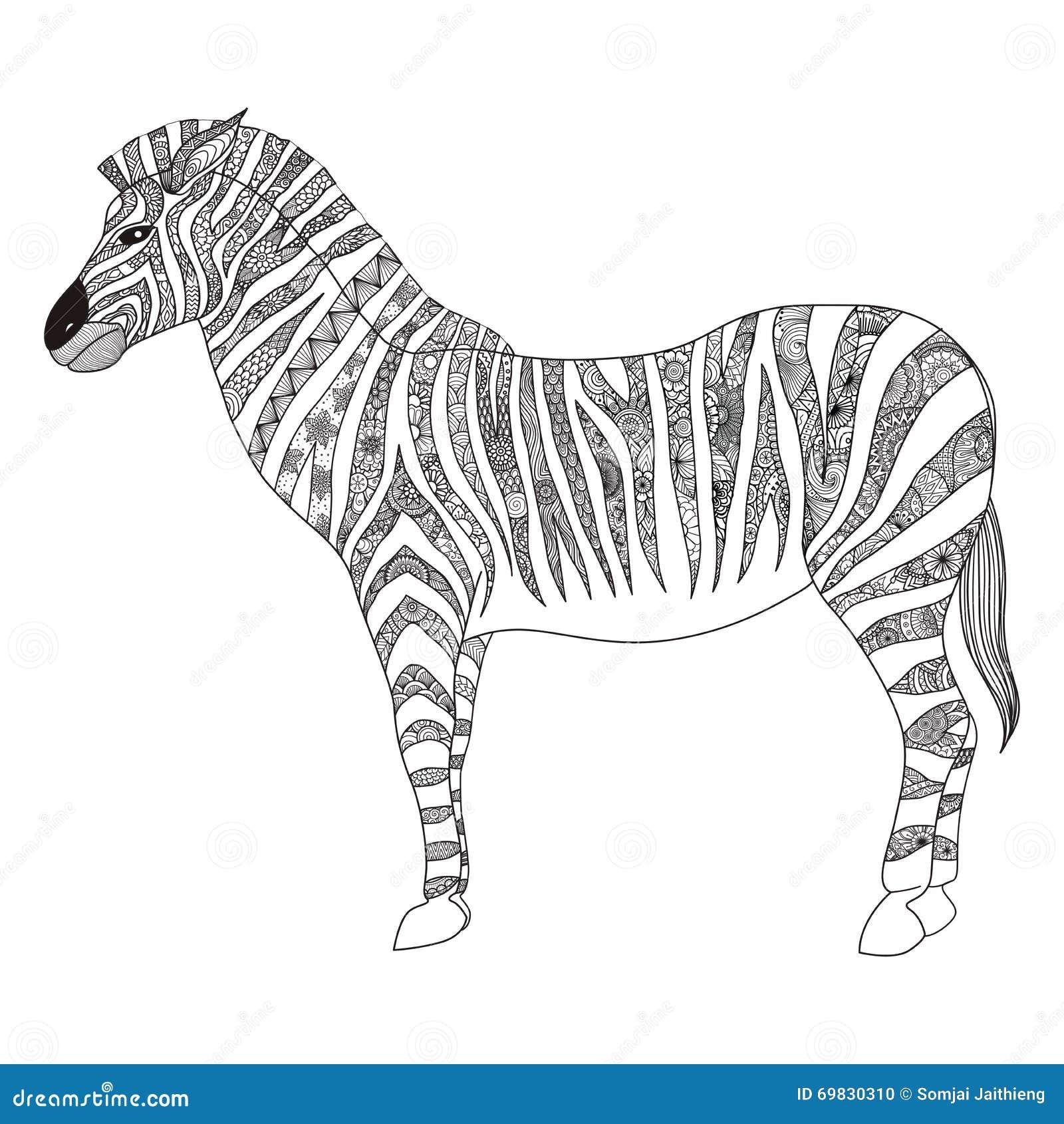 Zebra shirt design - Zebra Zentangle Stylized For T Shirt Design Sign Poster Coloring Book For