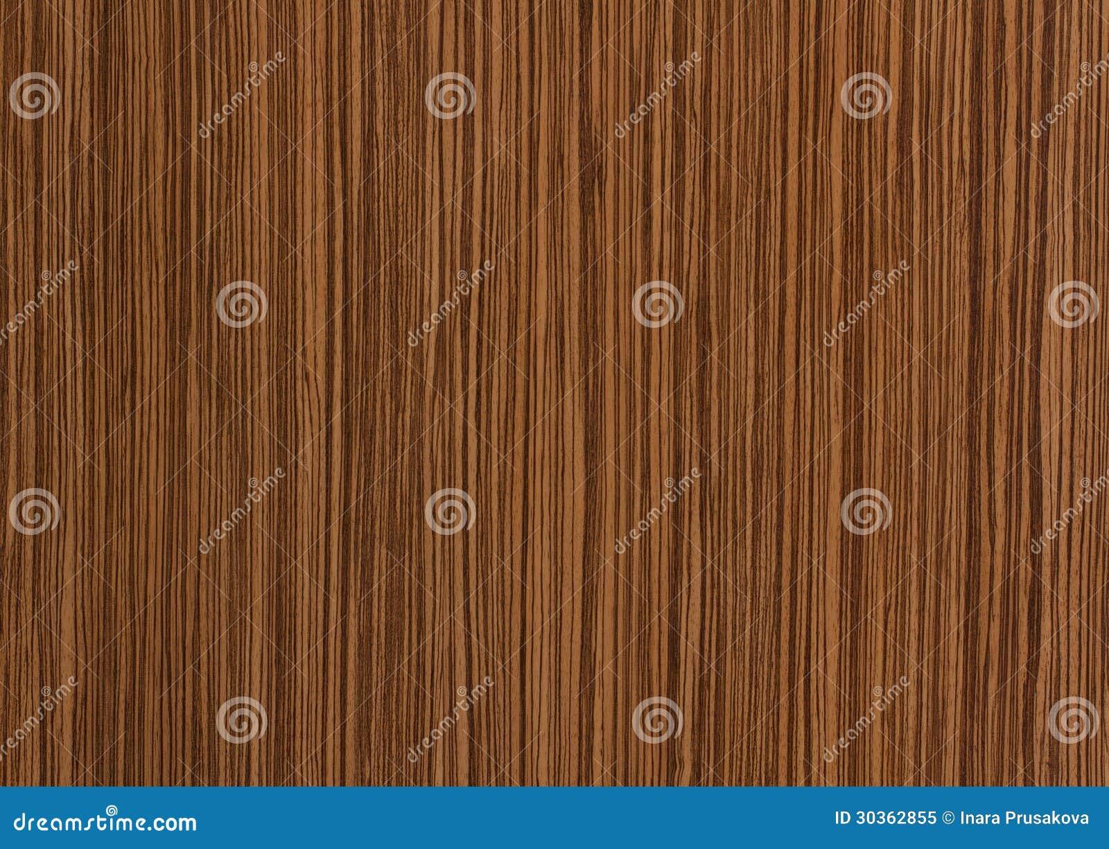 Zebrano Wood Texture Grain Background Royalty Free Stock