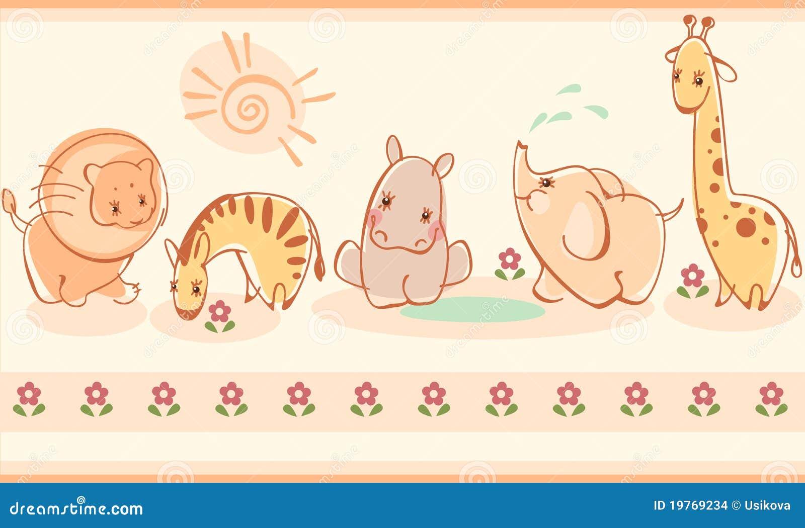 Zebras, giraffes, elefantes, leões, hipopótamos