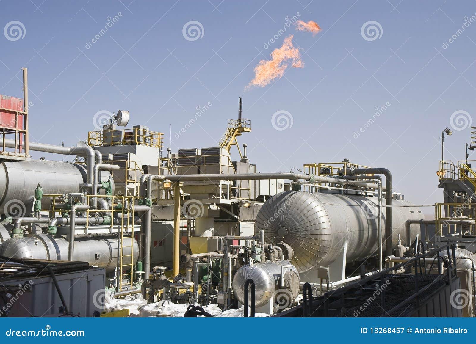 Zee olieproductieinstallatie