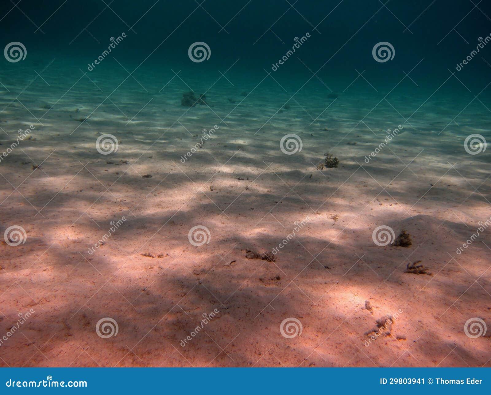 Zeebedding van zand