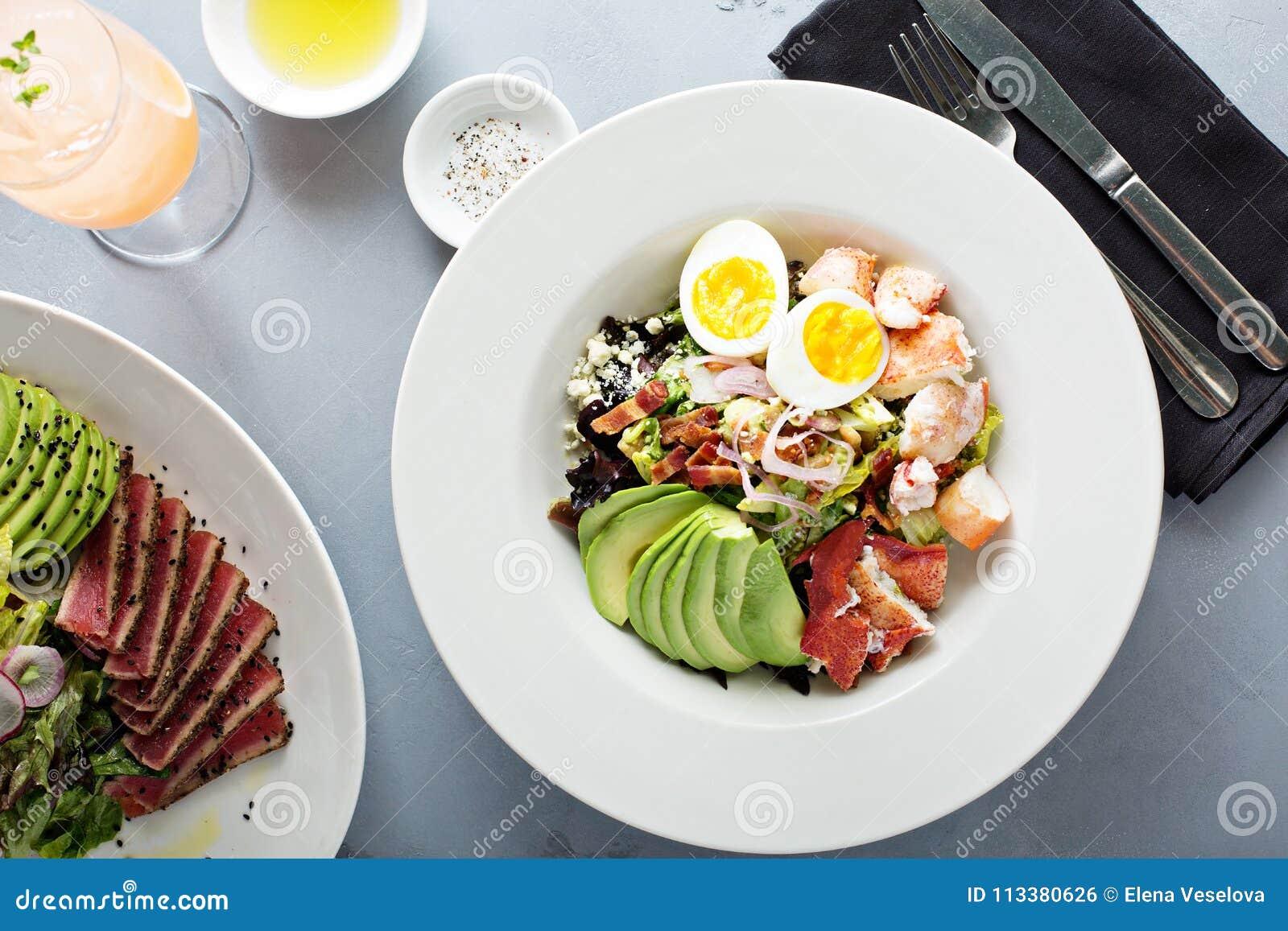 Zeekreeft cobb salade