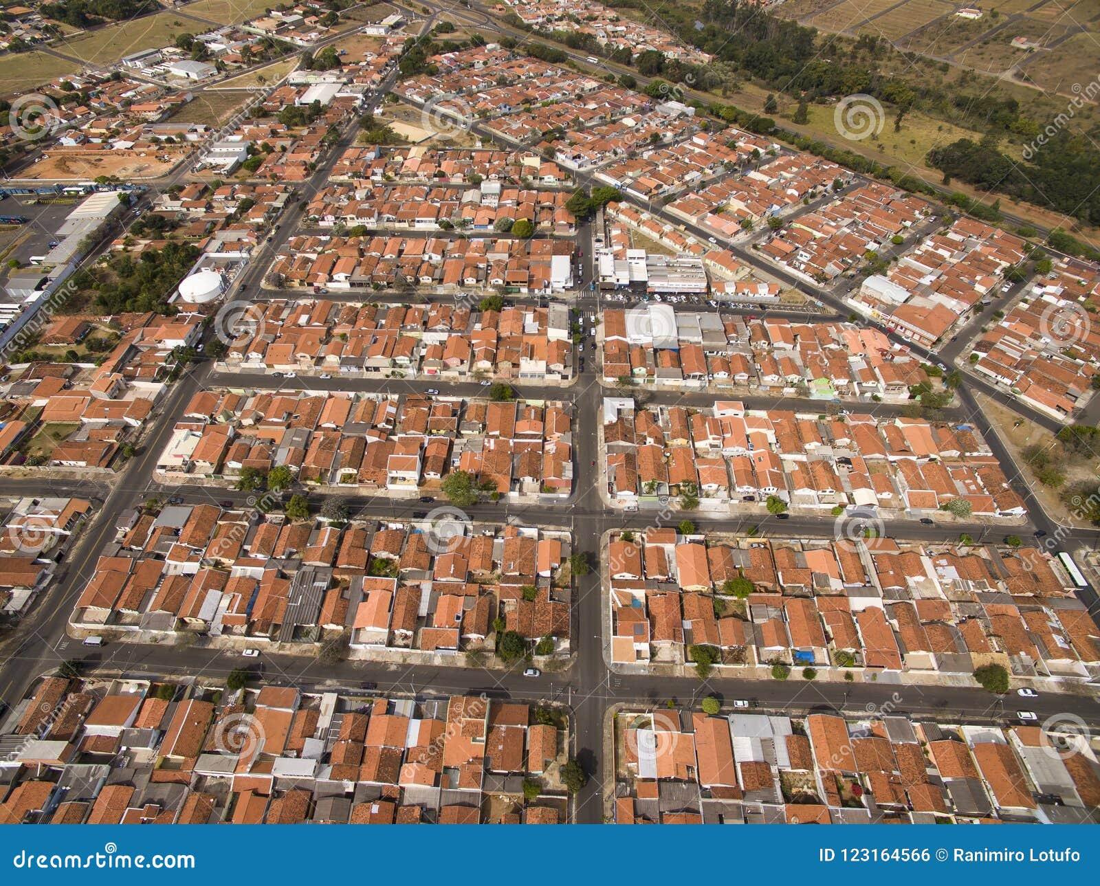 Zeer kleine stad in Sao Paulo, Brazilië Zuid-Amerika