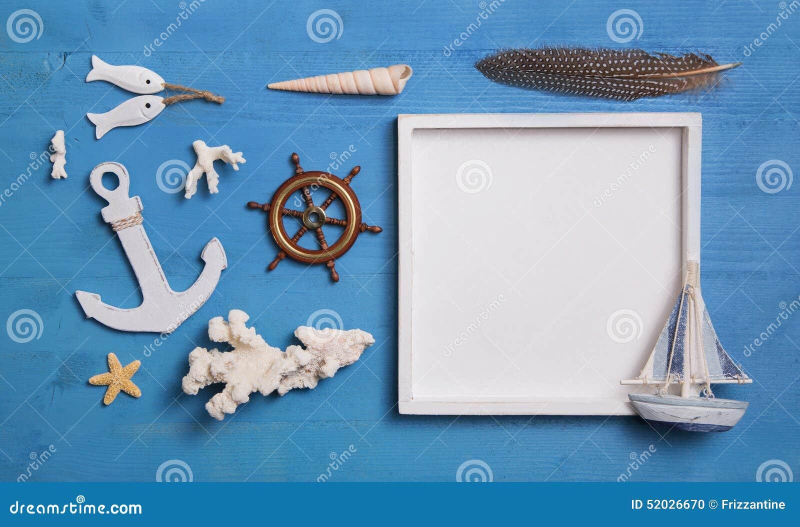 Zeevaart maritieme decoratie met anker zeilboot en wit s for Decoratie zeilboot