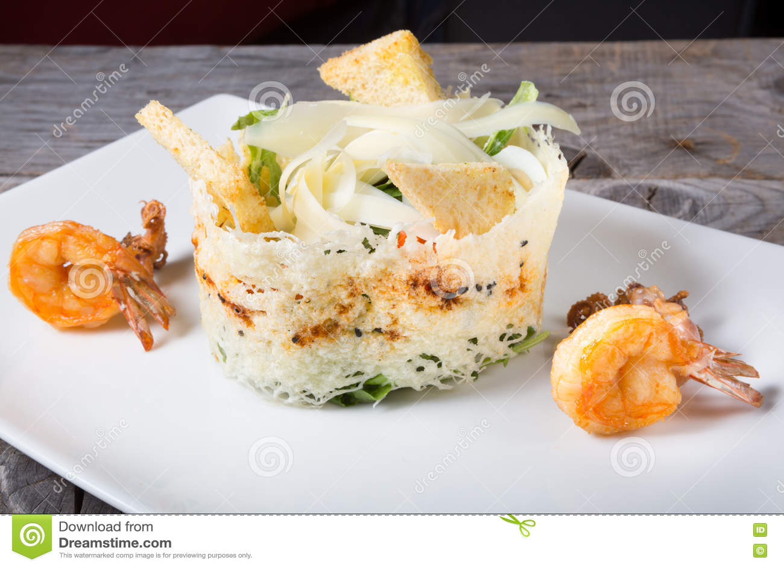 Zeevruchten cesar salade