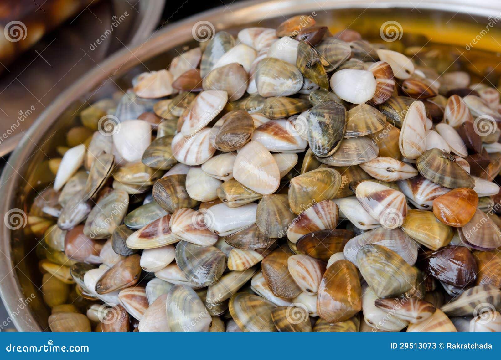 Zeevruchten in markt