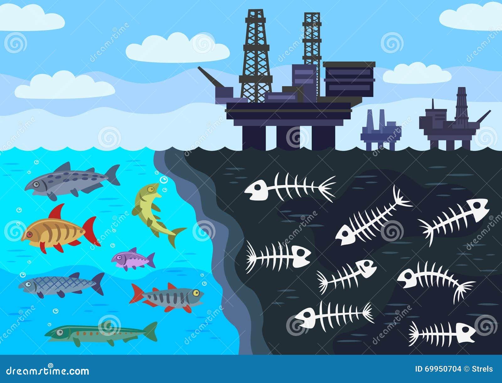 Zeewaterverontreiniging door olie