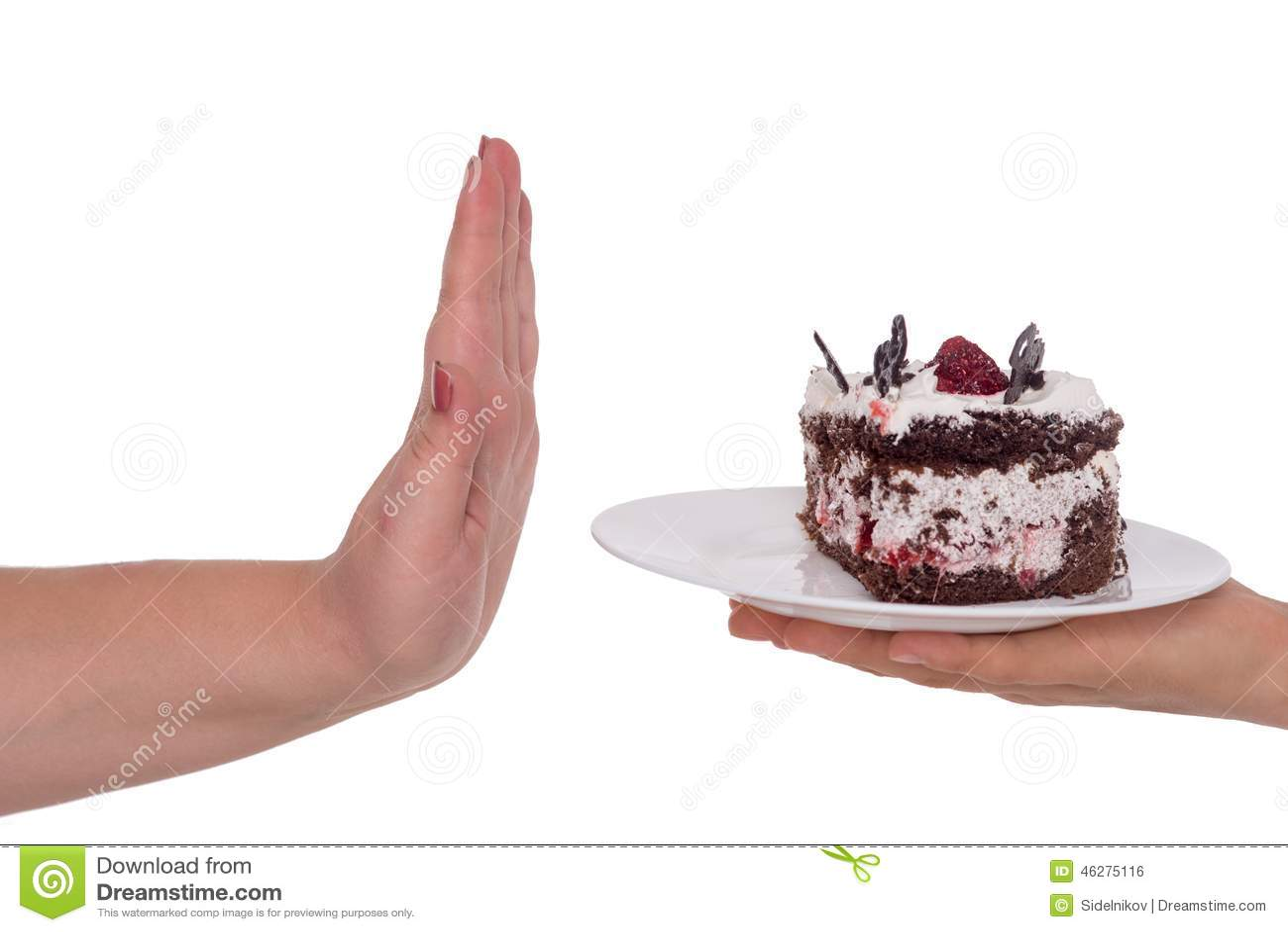 Zeg nr aan cake Concept voor zwaarlijvigheidskwestie