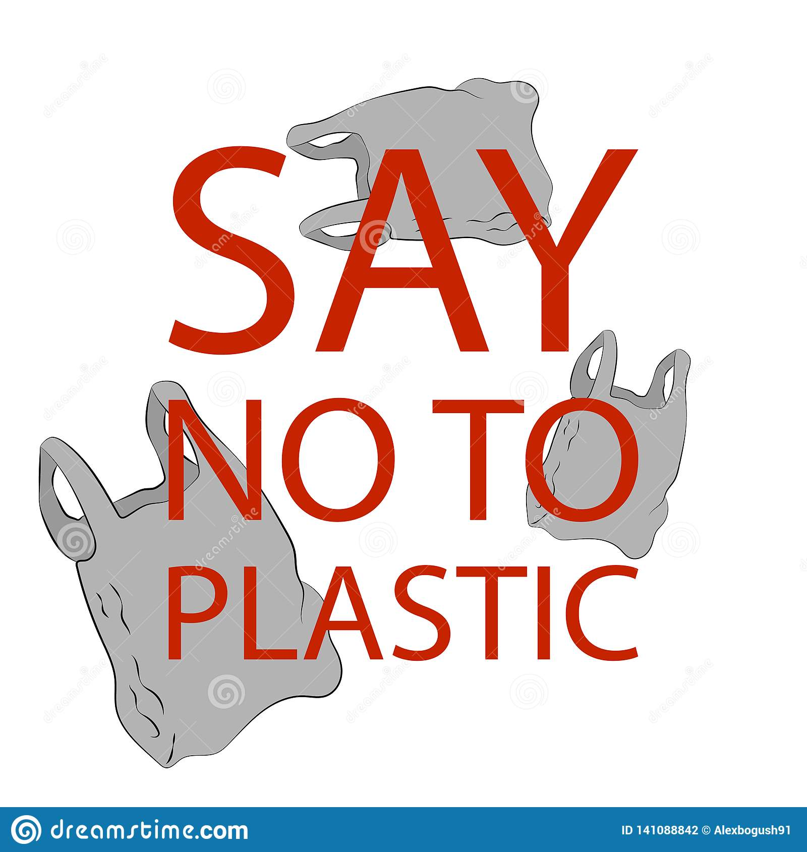 Zeg nr aan plastic zakkenaffiche