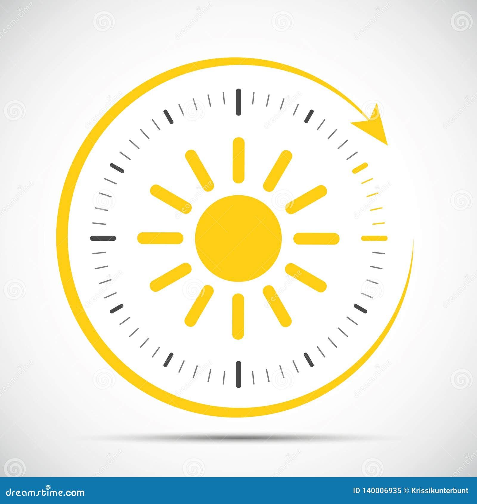 Zegar z słońca lata czasu zmianą