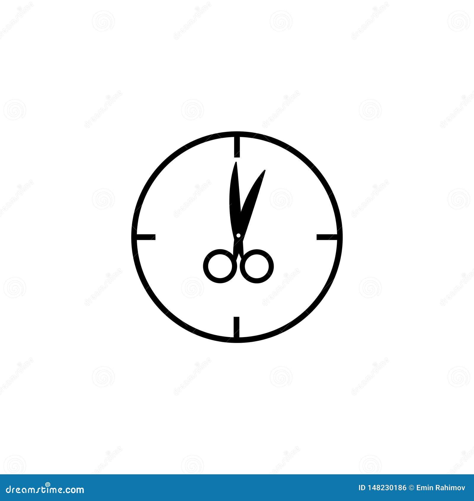 Zegarek z no?ycami zamiast strza?a znaka Jeden o ` zegar
