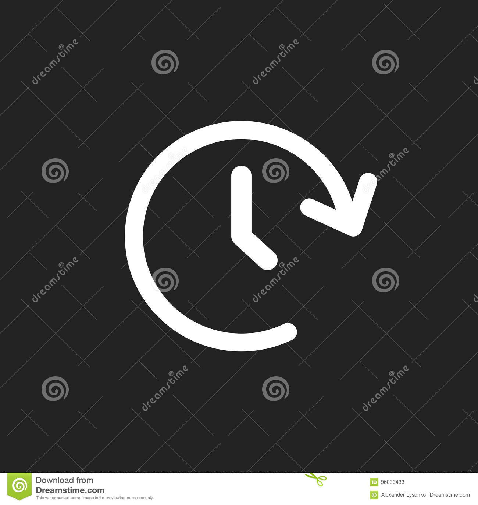 Zegarowa woluminu wektoru ikona Zegar 24 godziny szyldowej ilustraci