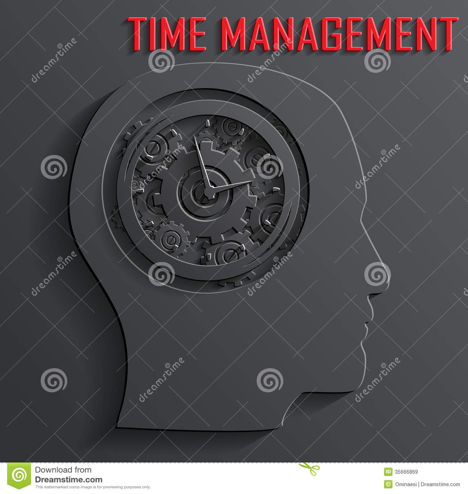 Zegarowy mechanizm w kierowniczym wektorze