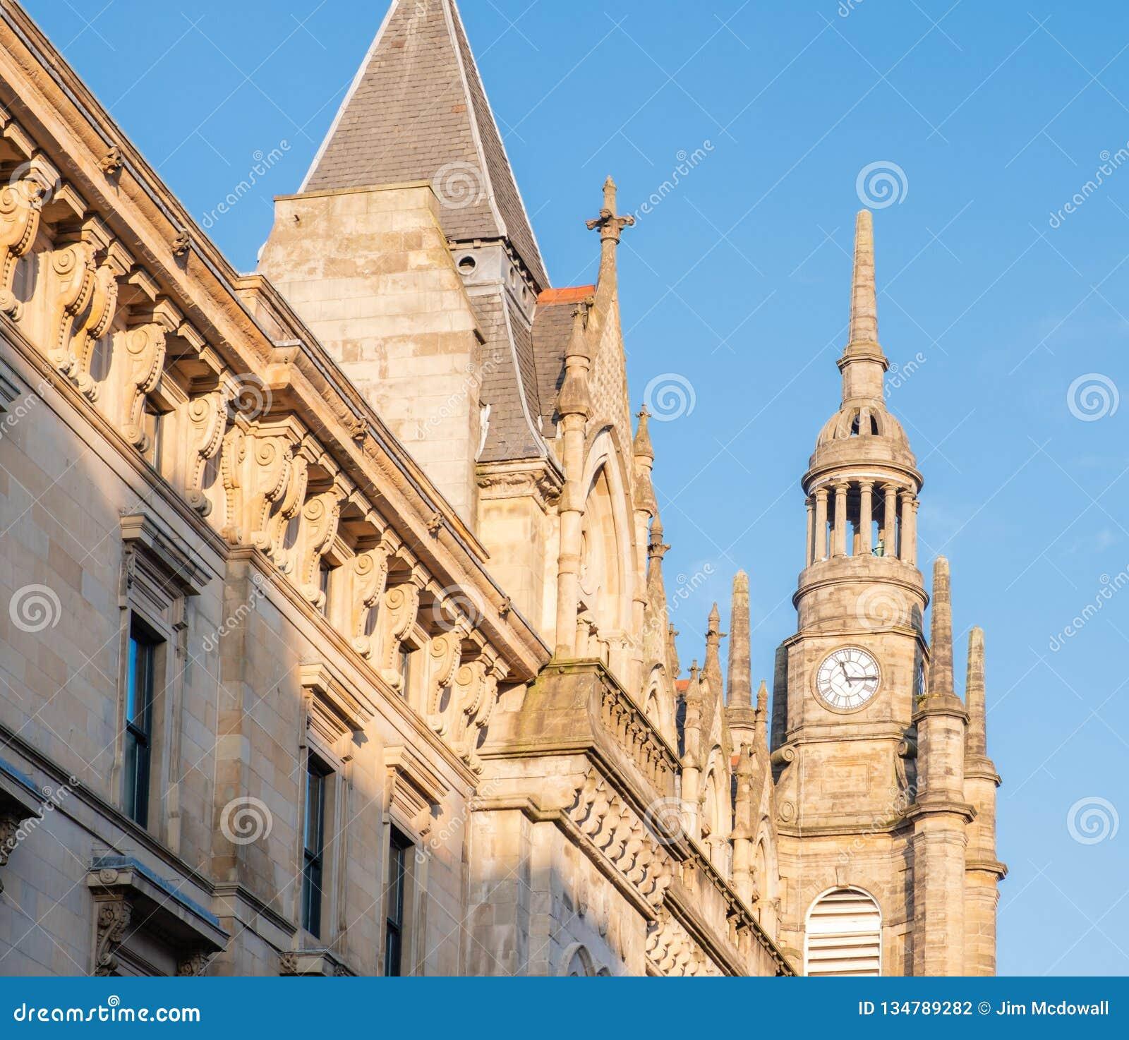 Zegarowy wierza & budynku St Georges Tron kościół Glasgow
