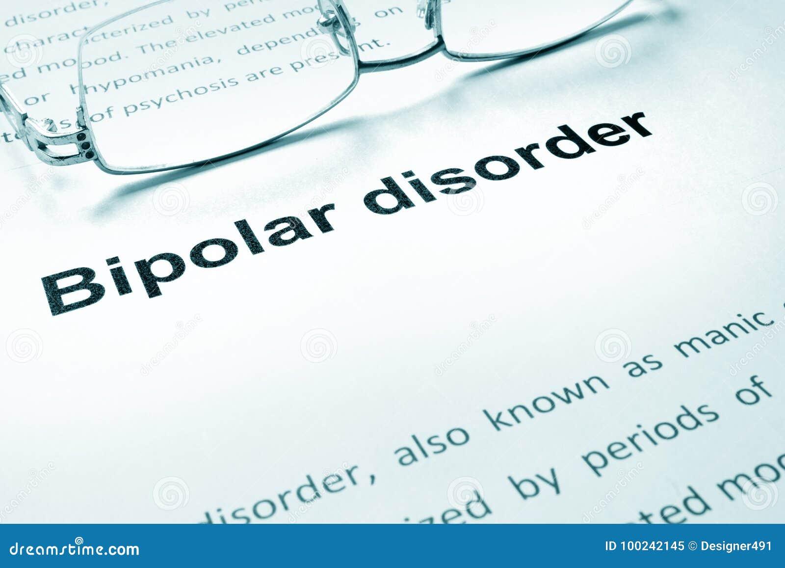 Zeichen der bipolaren Störung auf einem Papier
