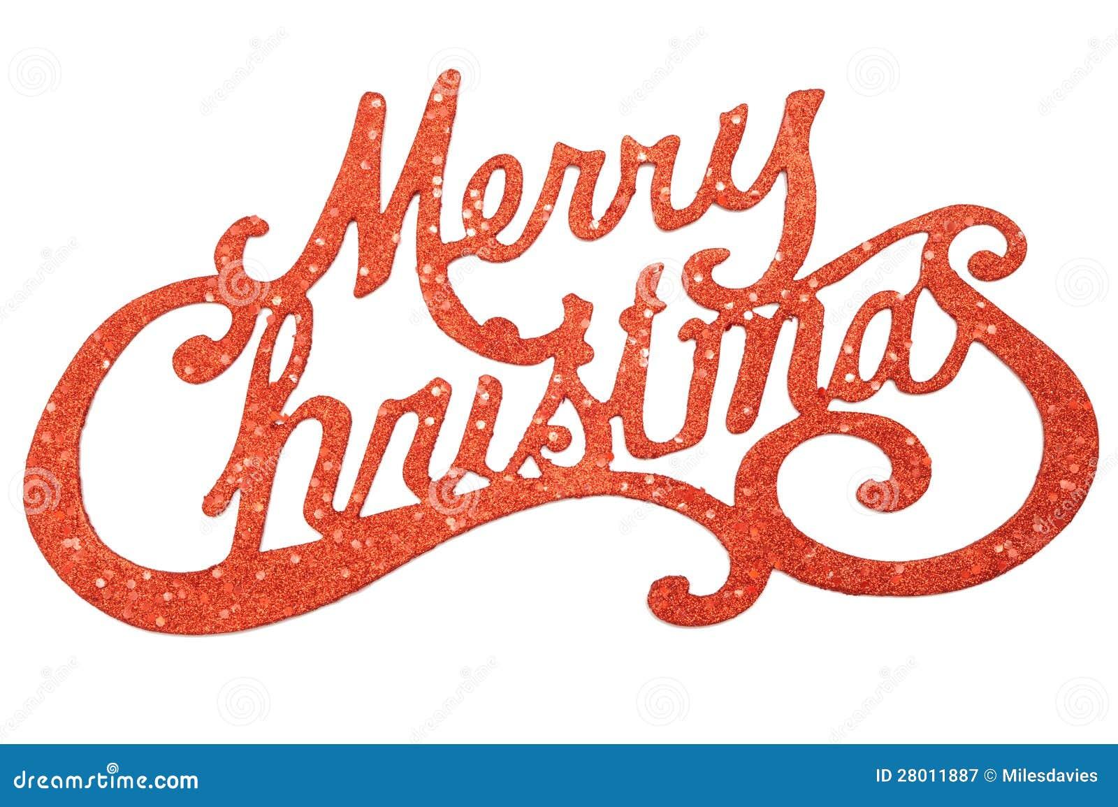 Zeichen Der Frohen Weihnachten Stockbild - Bild von getrennt ...