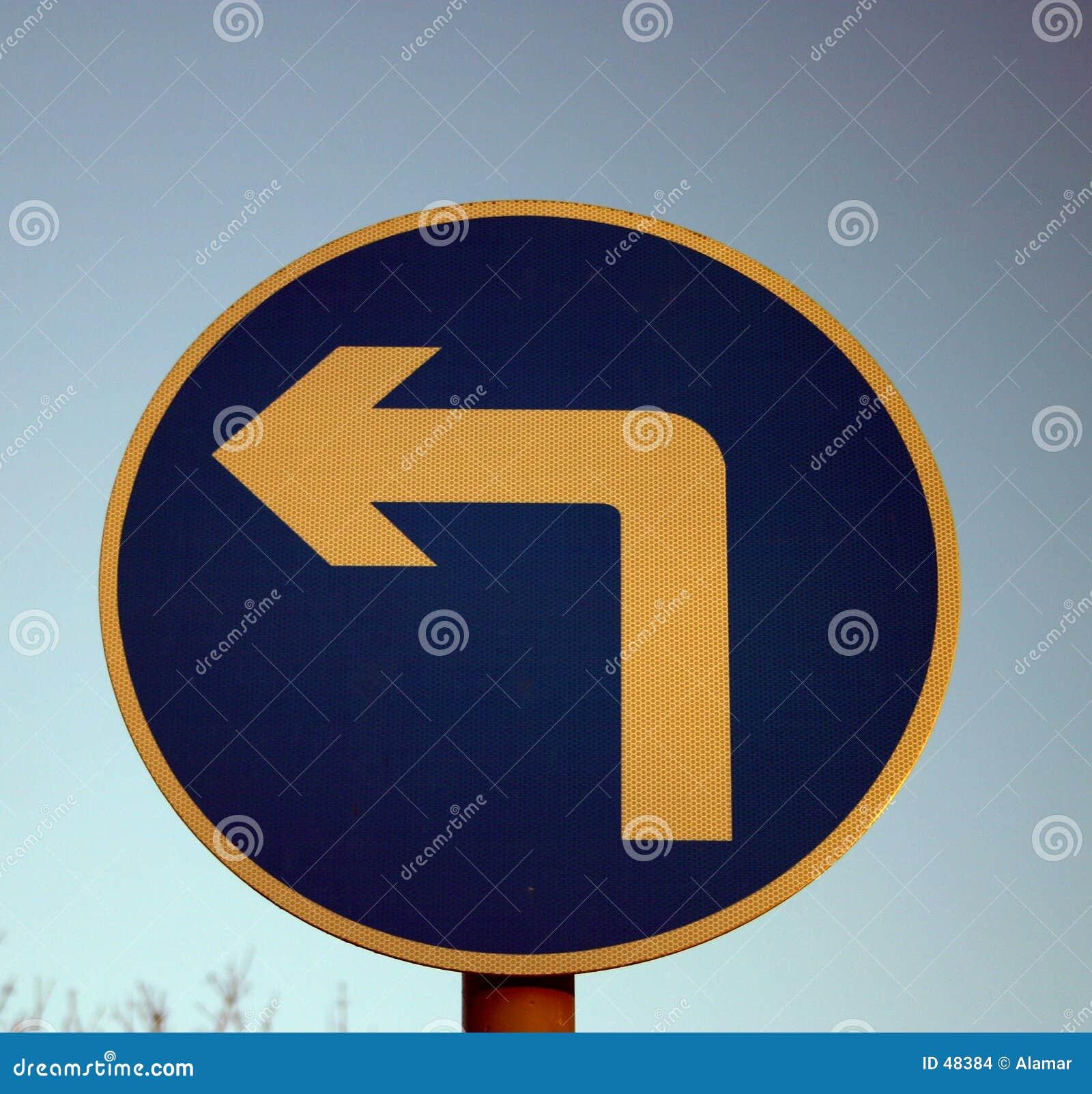 Zeichen der linken Kurve