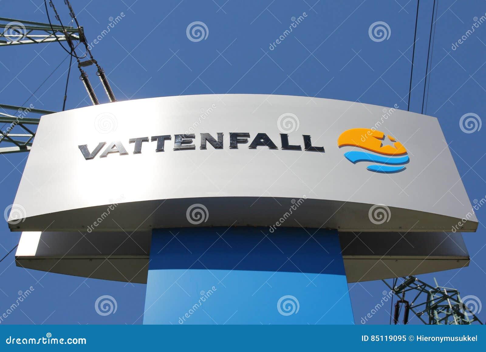 Zeichen Der Schwedischen Elektrizitätsgesellschaft Vattenfall ...