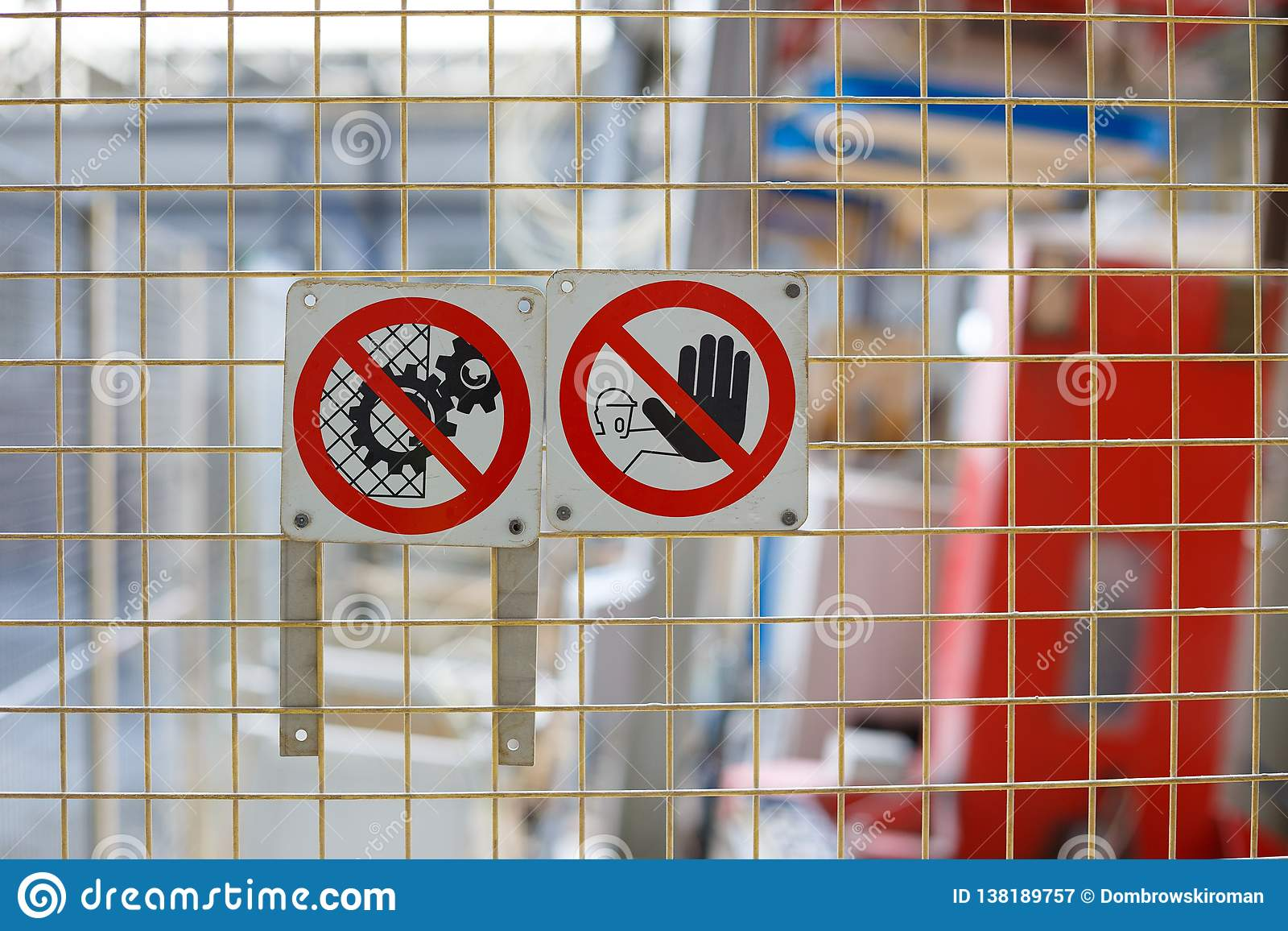 Zeichen des Verbots auf Produktion