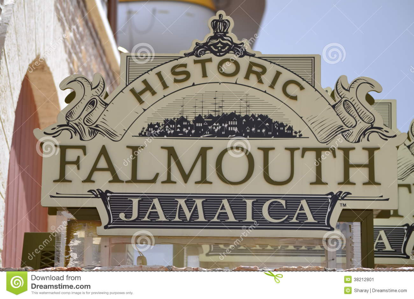 Zeichen Falmouths Jamaika