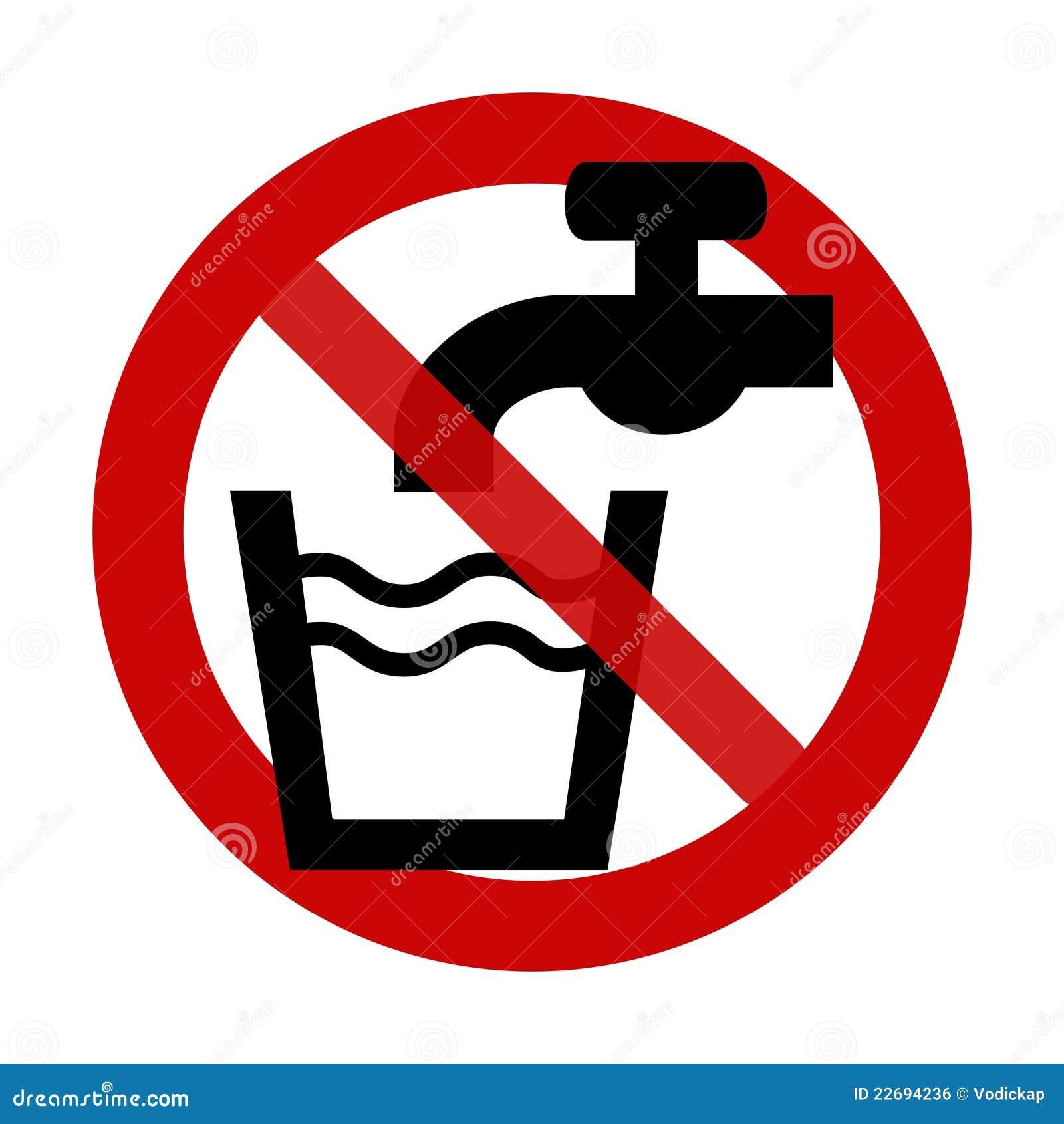 zeichen kein trinkwasser vektor abbildung bild von drinkable 22694236. Black Bedroom Furniture Sets. Home Design Ideas