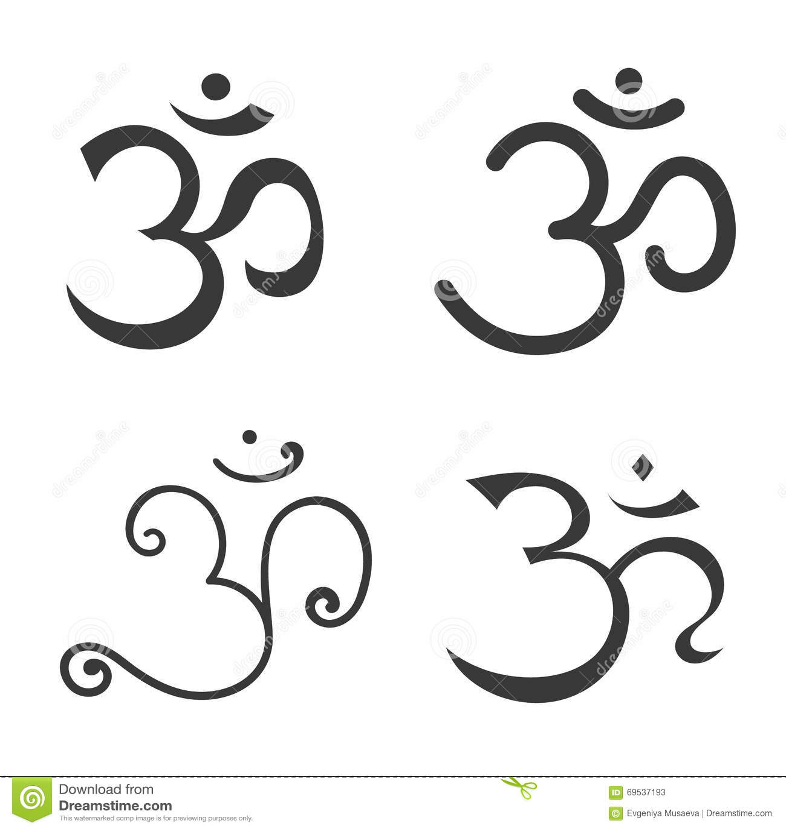 Prächtig Zeichen OM Übergeben Sie Gezogenes Symbol Von Buddhismus- Und #UM_91