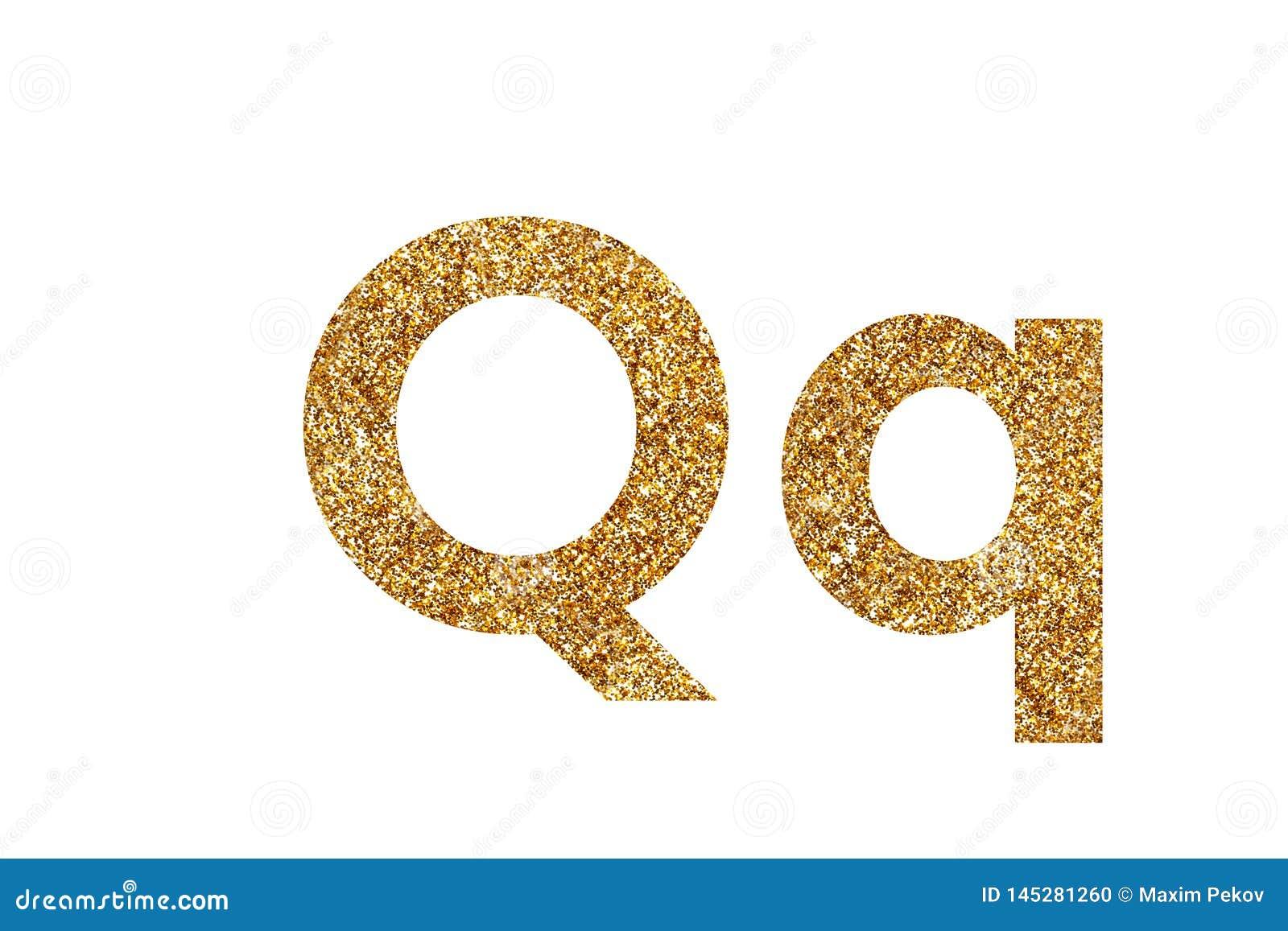 Zeichen Q Englisches Alphabet Getrennt auf wei?em Hintergrund